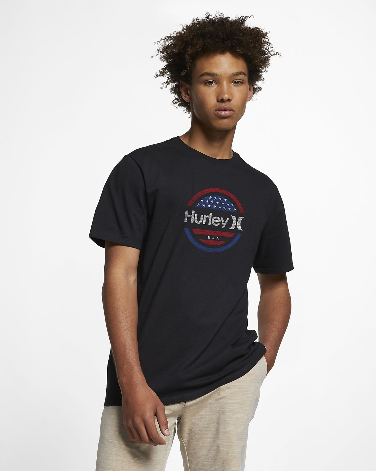 Hurley Premium One and Only Circle Stars Men's T-Shirt