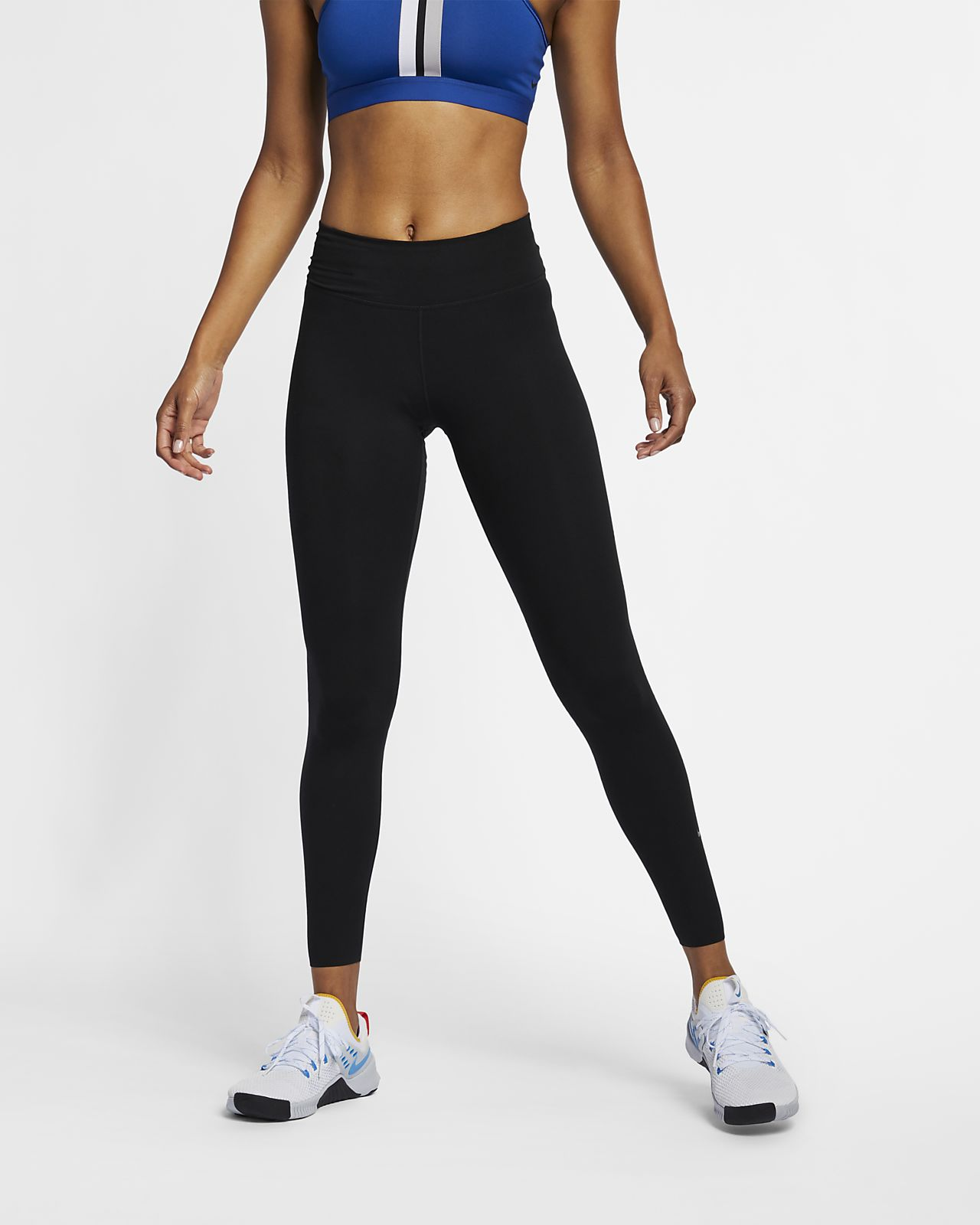 Nike One Luxe Damestights met halfhoge taille
