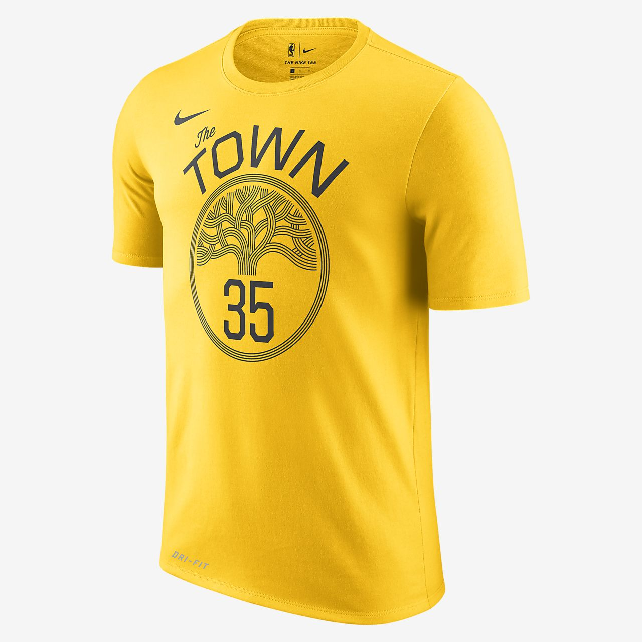 92f3e2c9 Men's NBA T-Shirt. Kevin Durant Golden State Warriors City Edition Nike Dri- FIT