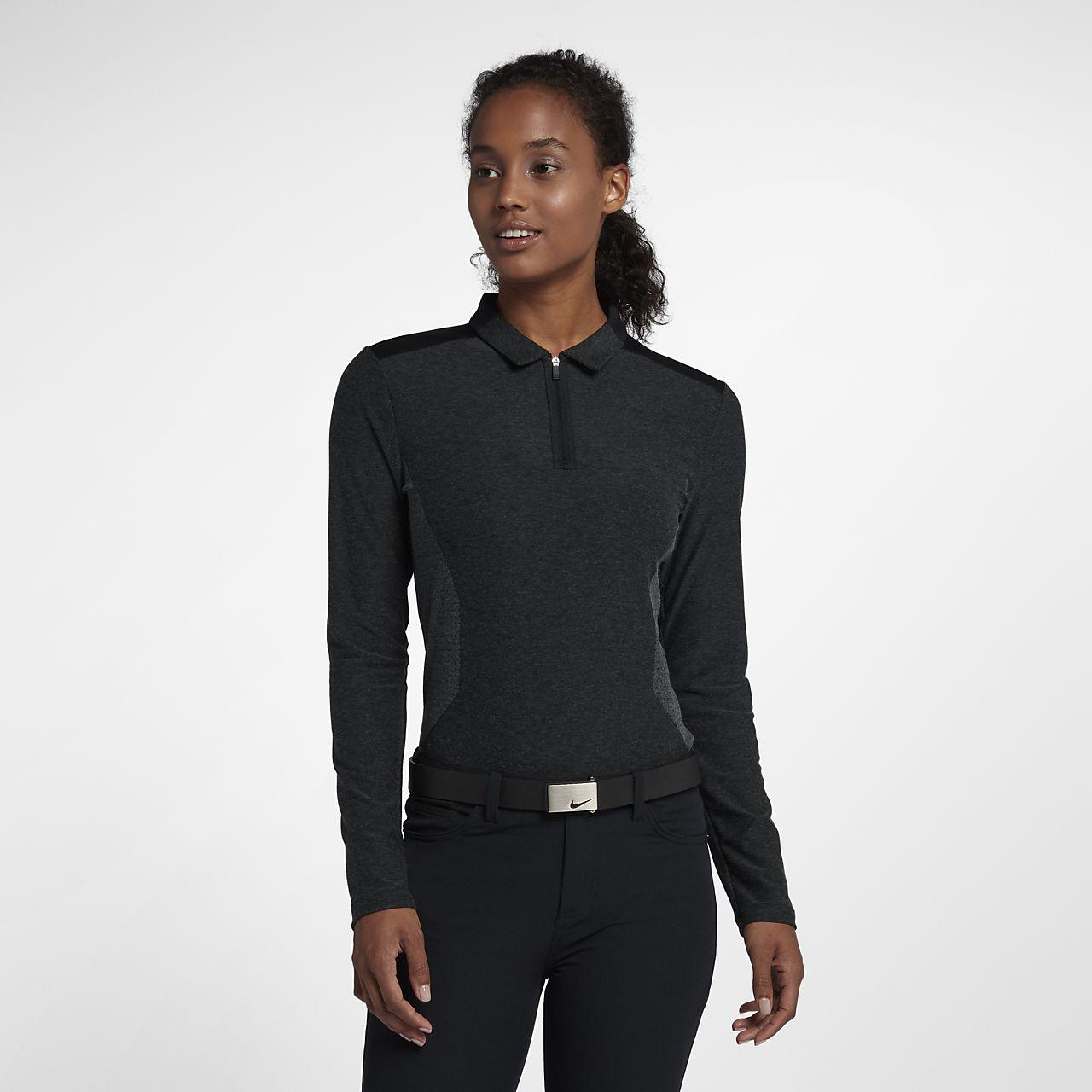 Polo de golf de manga larga para mujer Nike Zonal Cooling