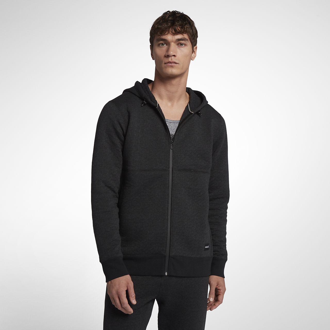 Pánská mikina Hurley Hollowknit Fleece s kapucí a dlouhým zipem ... 77b380f45b
