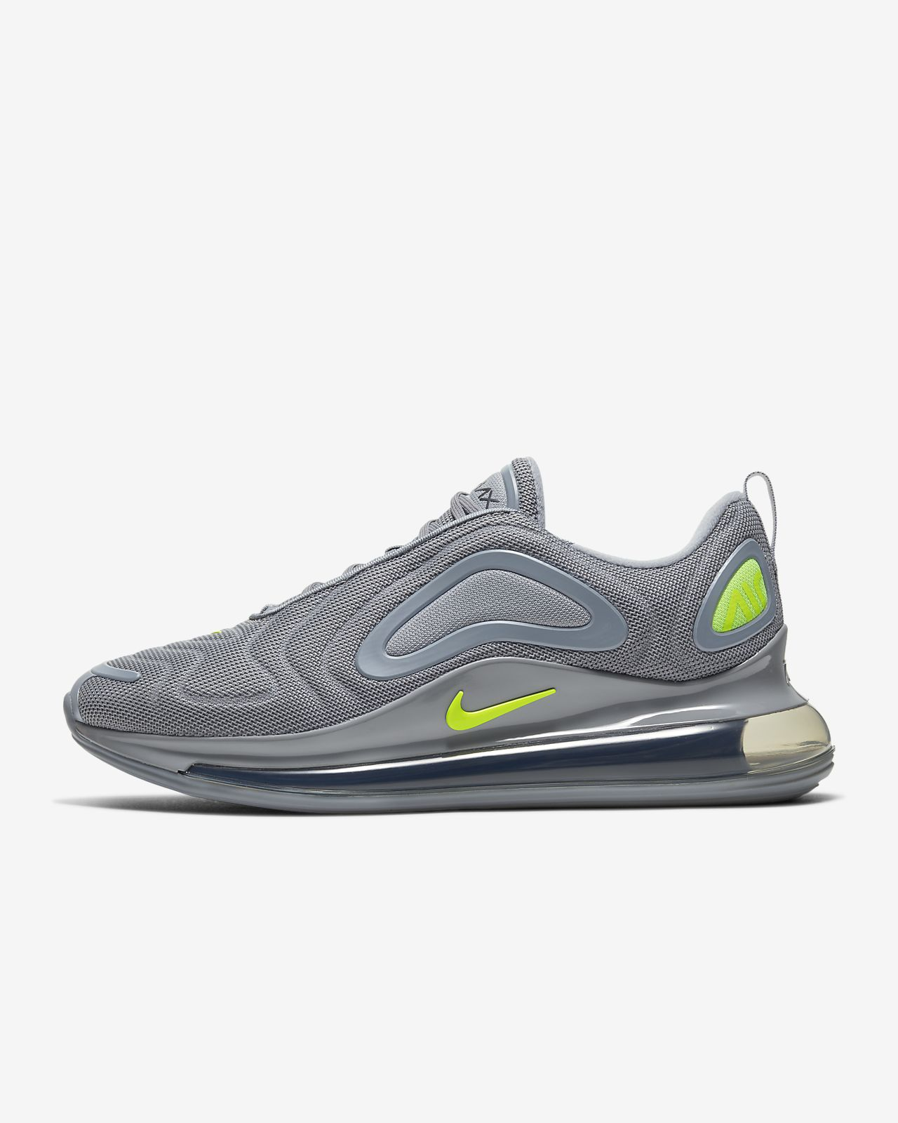 Nike Air Max 720 in Cool Grey Volt Electric Green