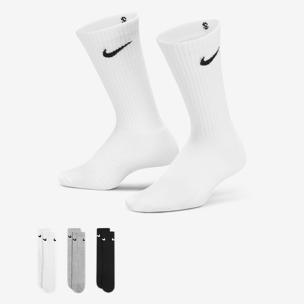 Nike Performance Crew Older Kids' Socks (3 Pair)