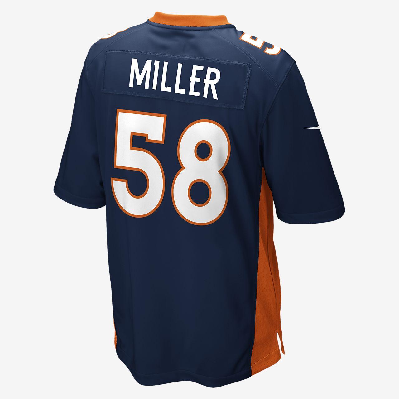 a8b1036895b NFL Denver Broncos (Von Miller) Men's Game Football Jersey. Nike.com
