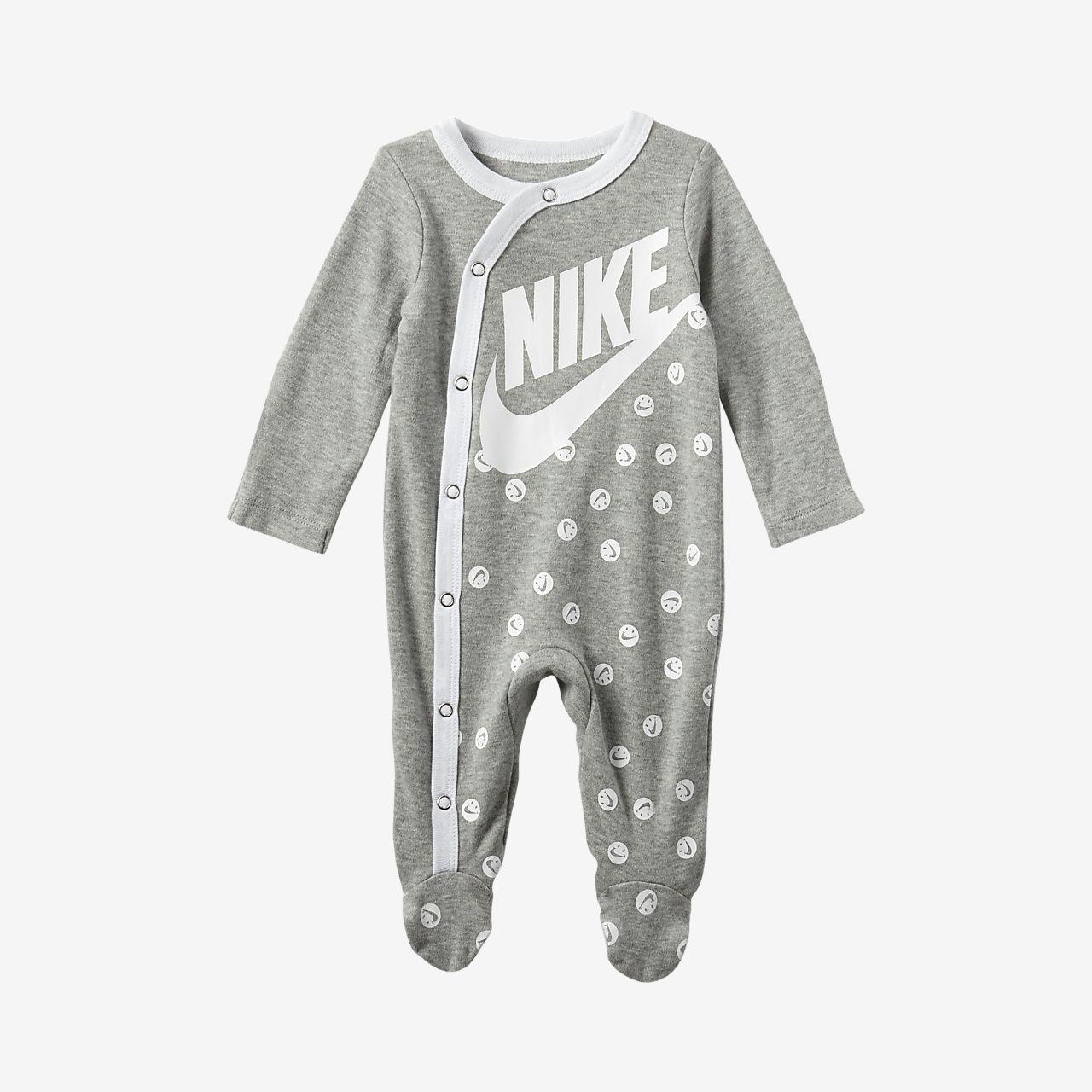 Nike hosszú ujjú, lábfejrésszel ellátott rugdalózó babáknak (0-9 hónapos)