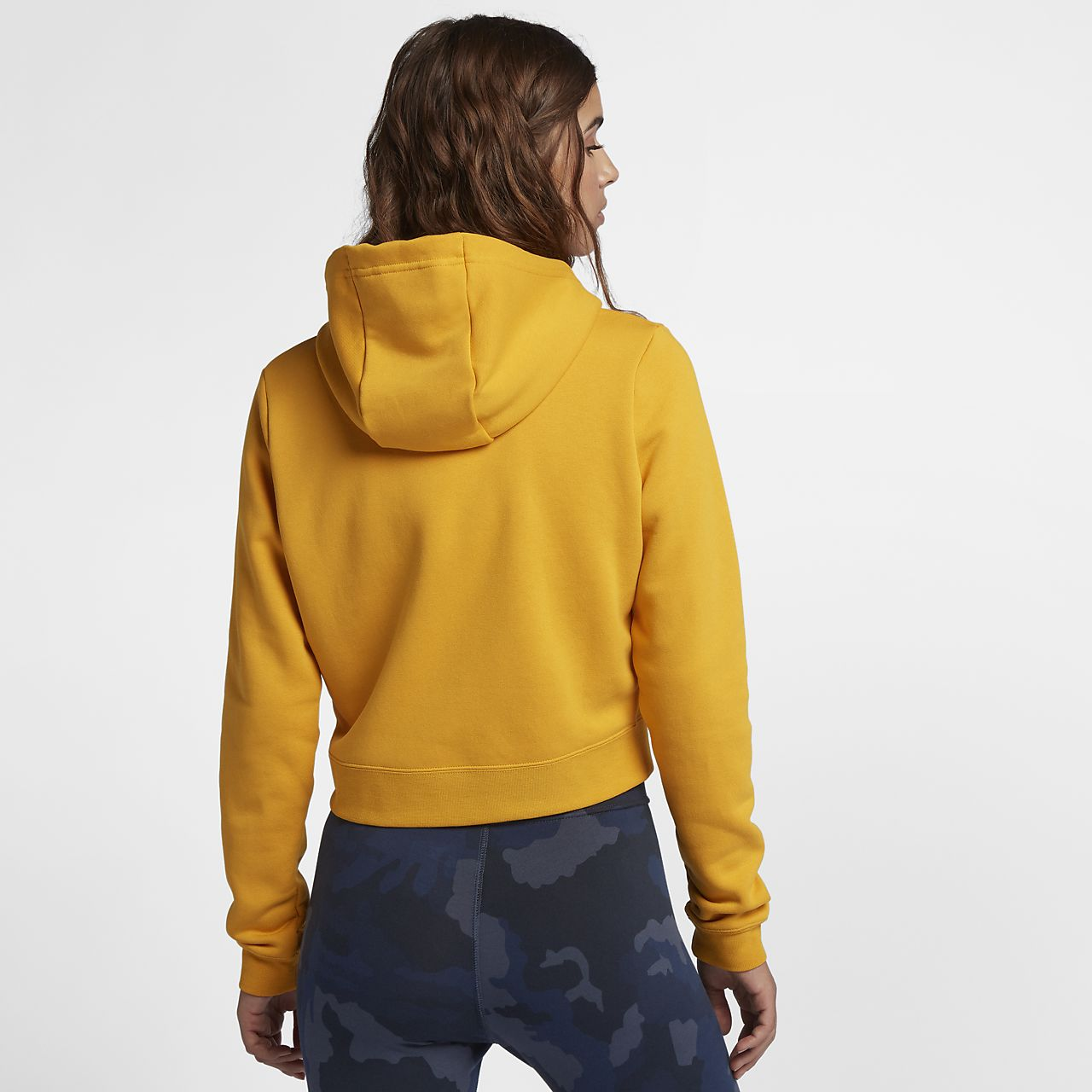 e8326ff8c6de Sudadera con capucha recortada para mujer Nike Sportswear Rally ...