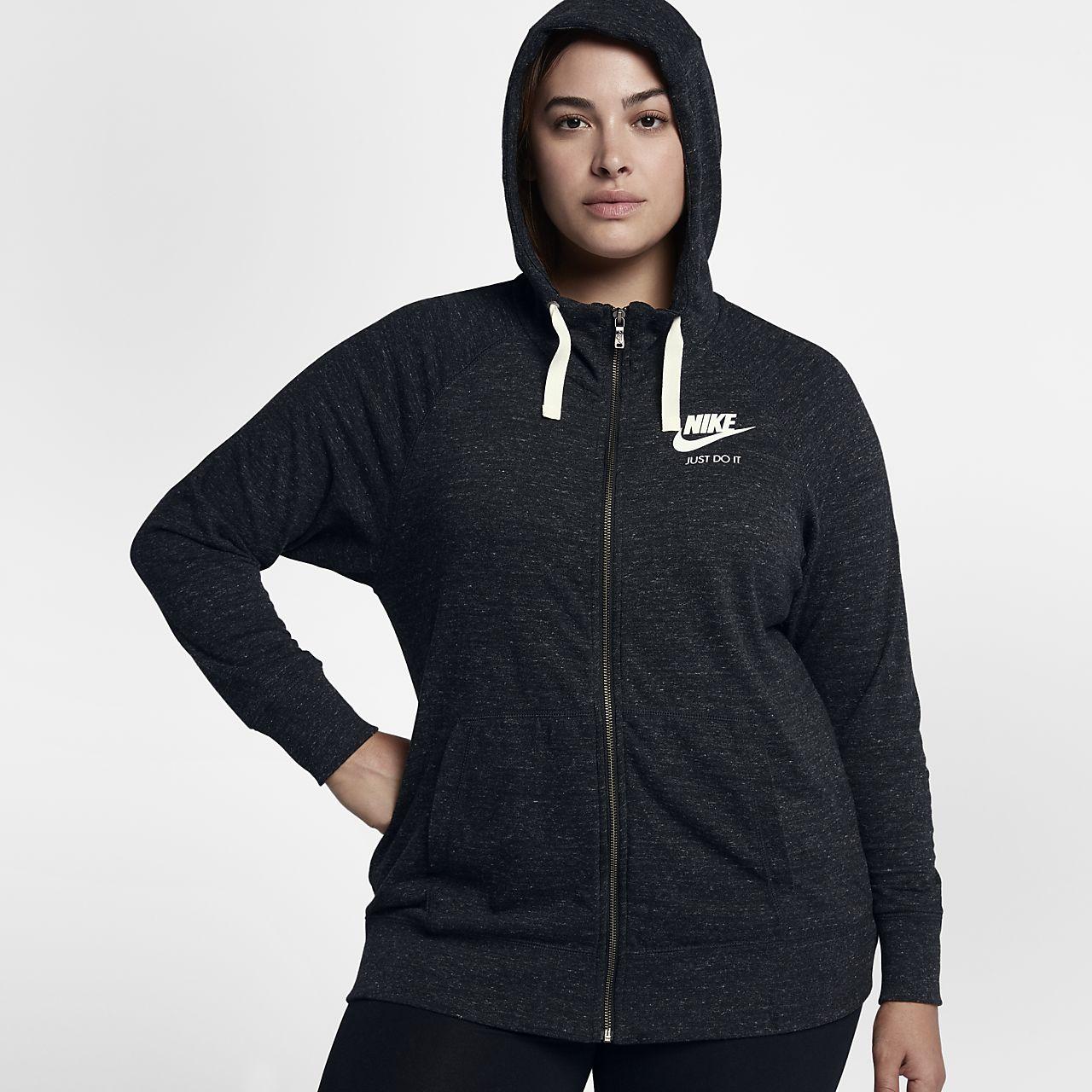 fb6ba99e7be Nike Sportswear Gym Vintage (Plus Size) Women s Full-Zip Hoodie ...