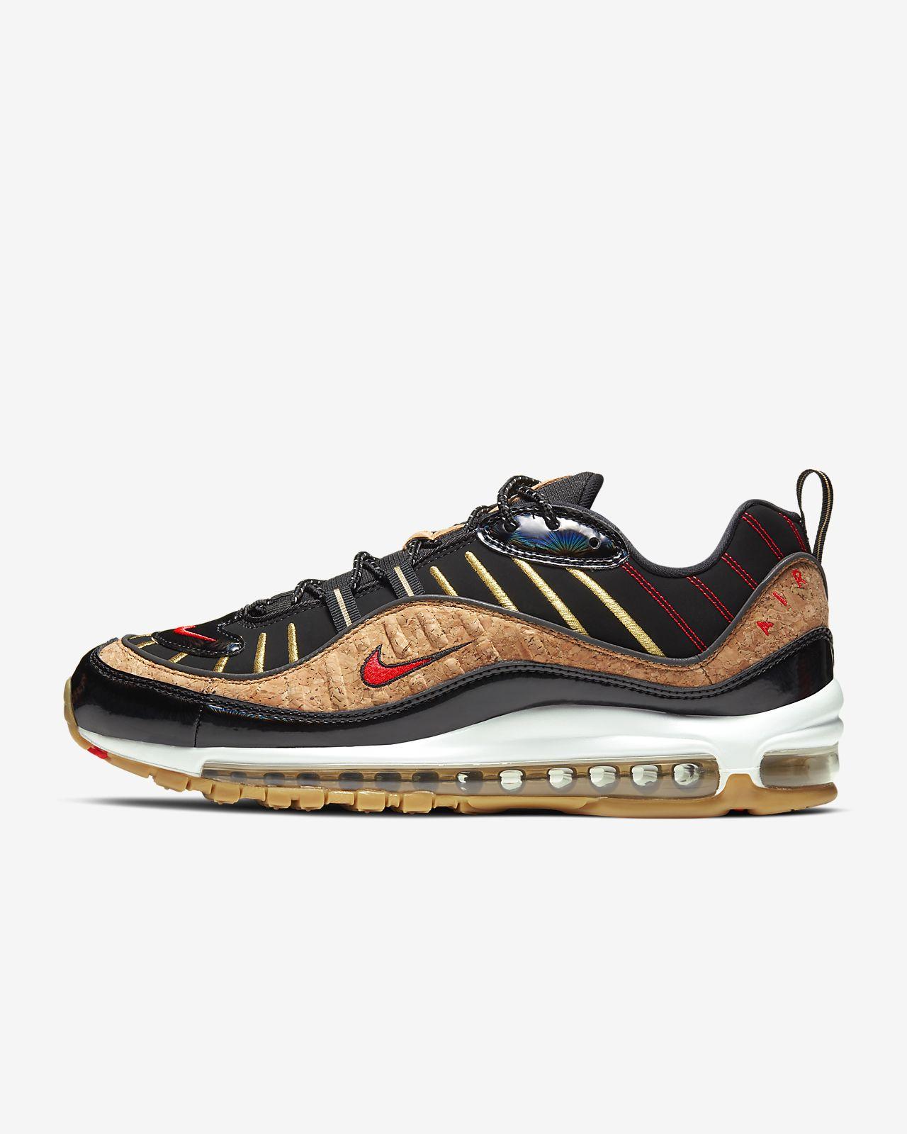 Nike Air Max 98 Off White Grey Black Red Sneakers Men's