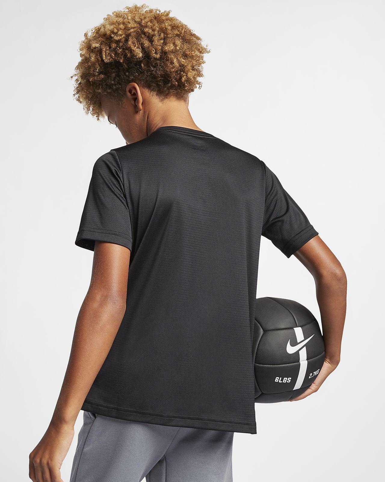 Κοντομάνικη μπλούζα προπόνησης Nike Dri-FIT για μεγάλα αγόρια. Nike ... 4b5ef7c5275