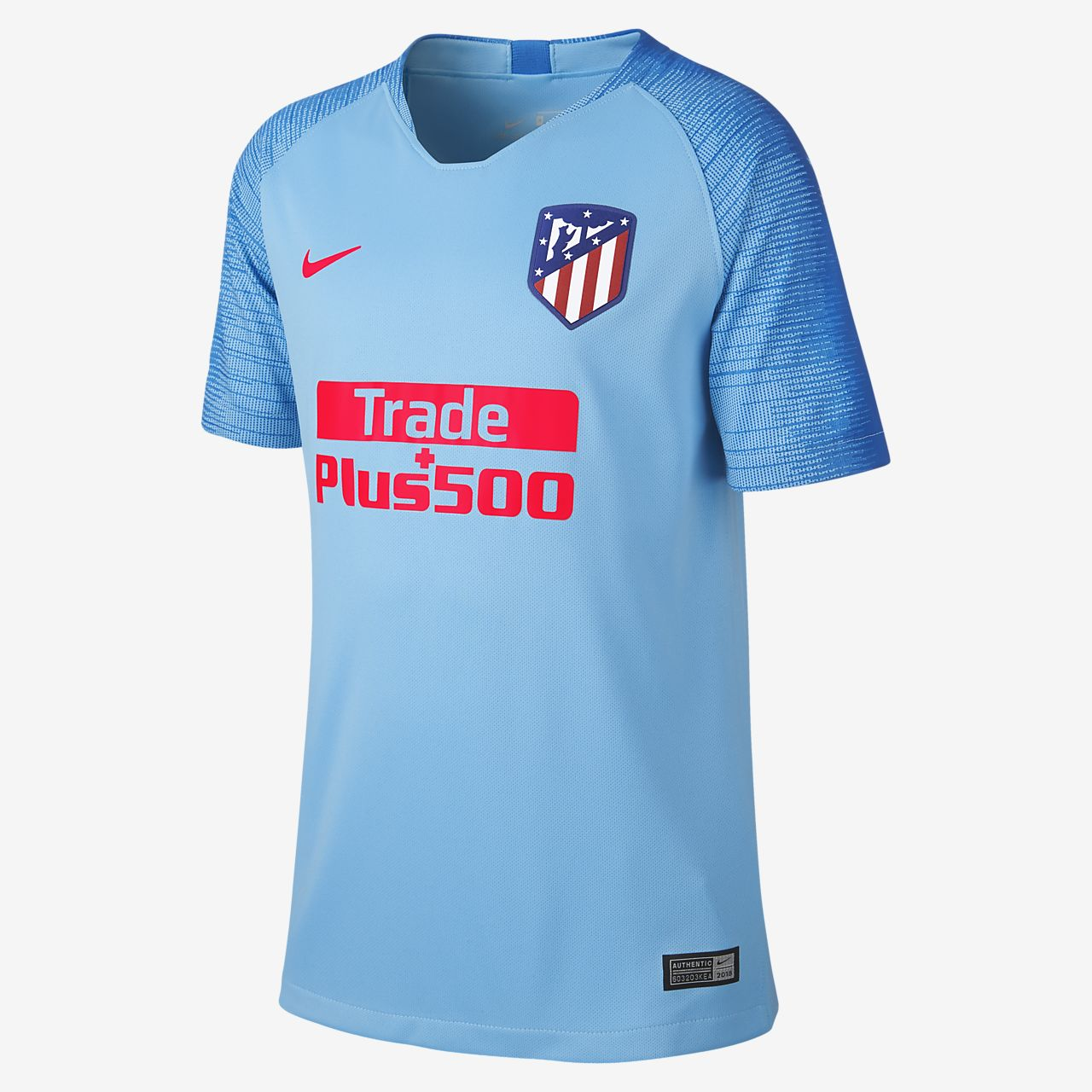 5fa425a6c01 2018/19 Atlético de Madrid Stadium Away Older Kids' Football Shirt ...