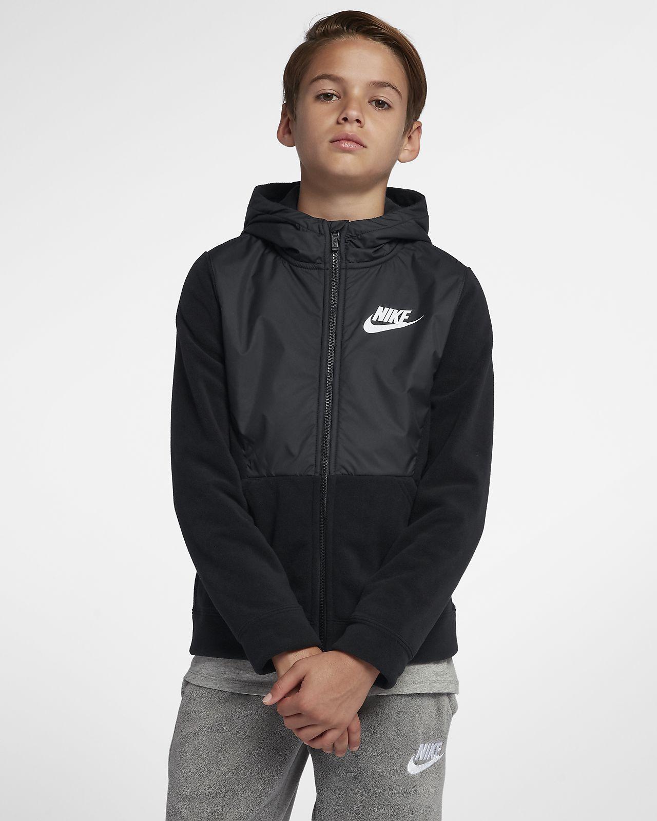 Felpa con cappuccio e zip a tutta lunghezza Nike Sportswear - Ragazzo