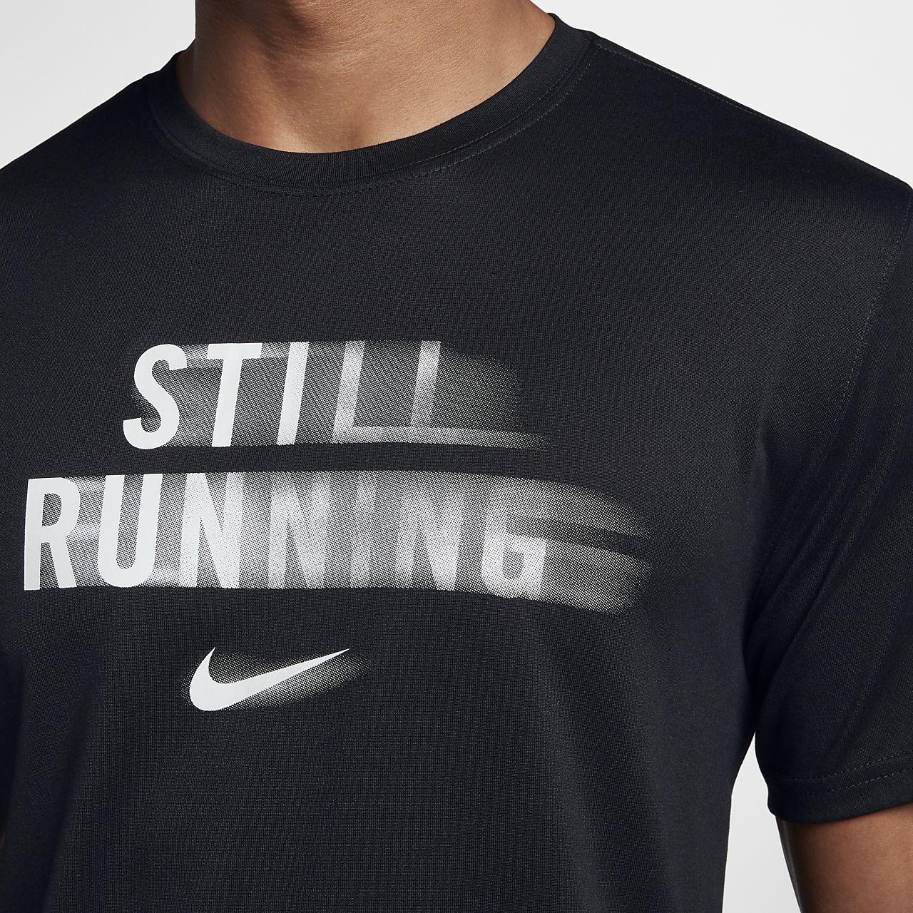 tee shirt running nike homme