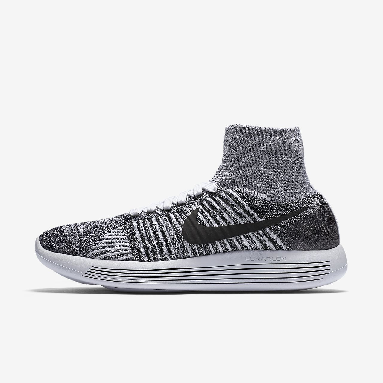 NEW Nike Lunarepic Flyknit White Black 818677-101 Womens Running Shoes All Sizes
