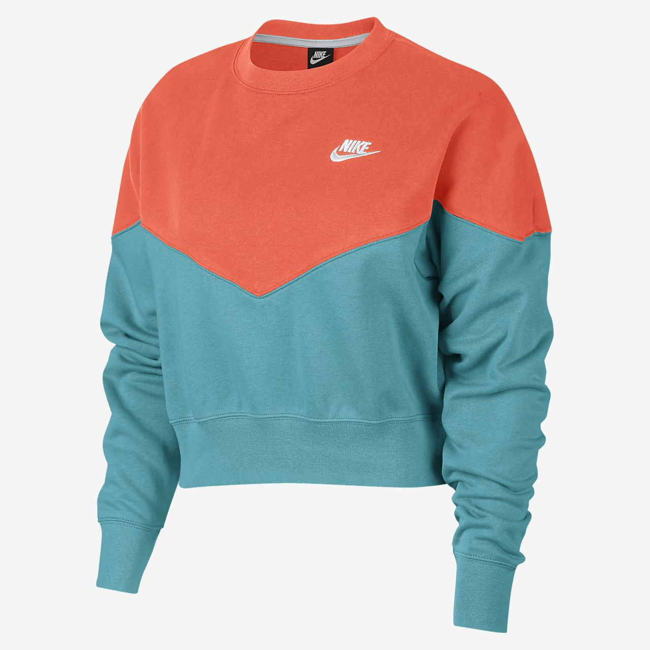 Nike Sportswear Heritage-crewtrøje i fleece til kvinder