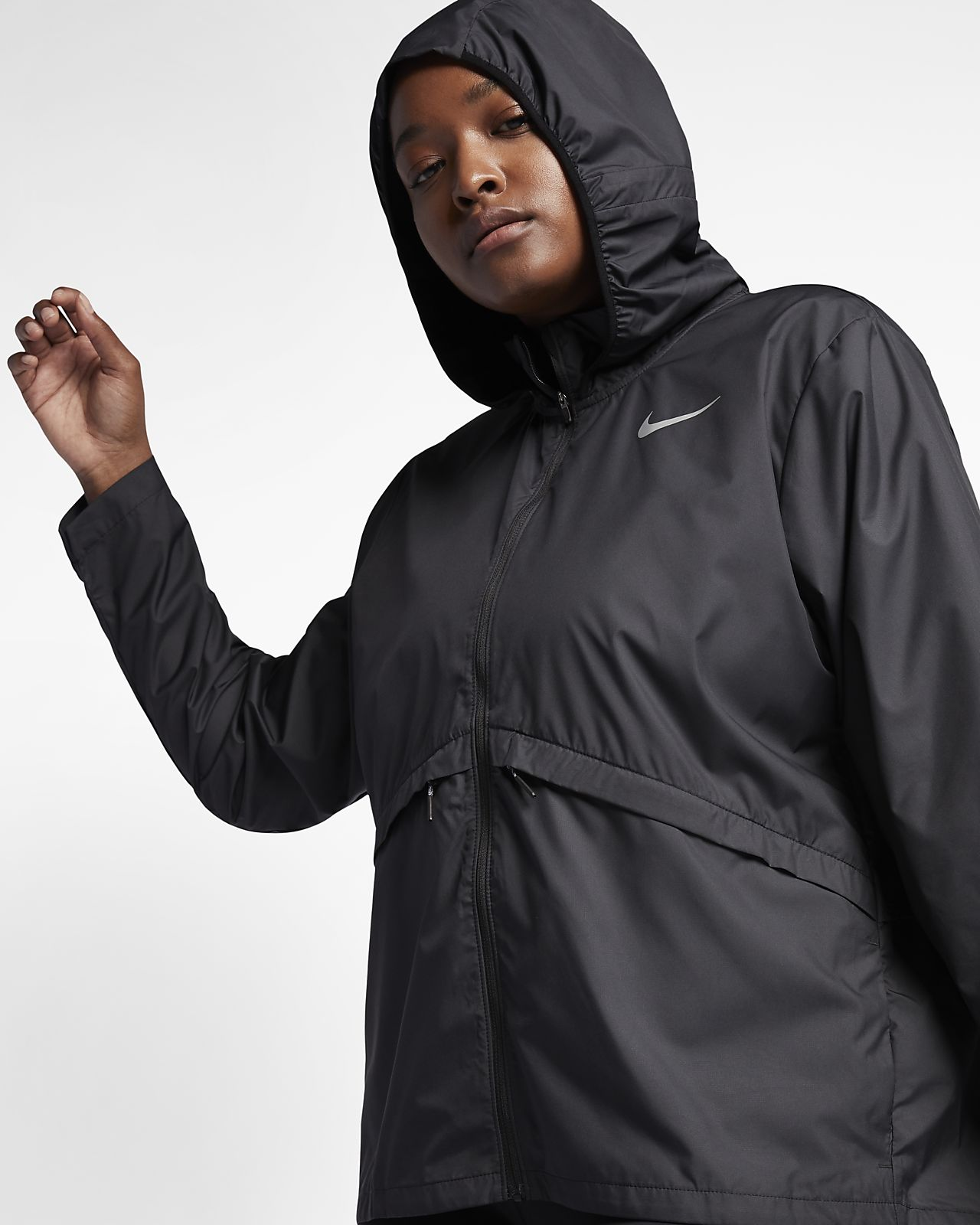 new style 3c0cd a0983 ... Nike Essential (Plus Size) Women s Running Jacket