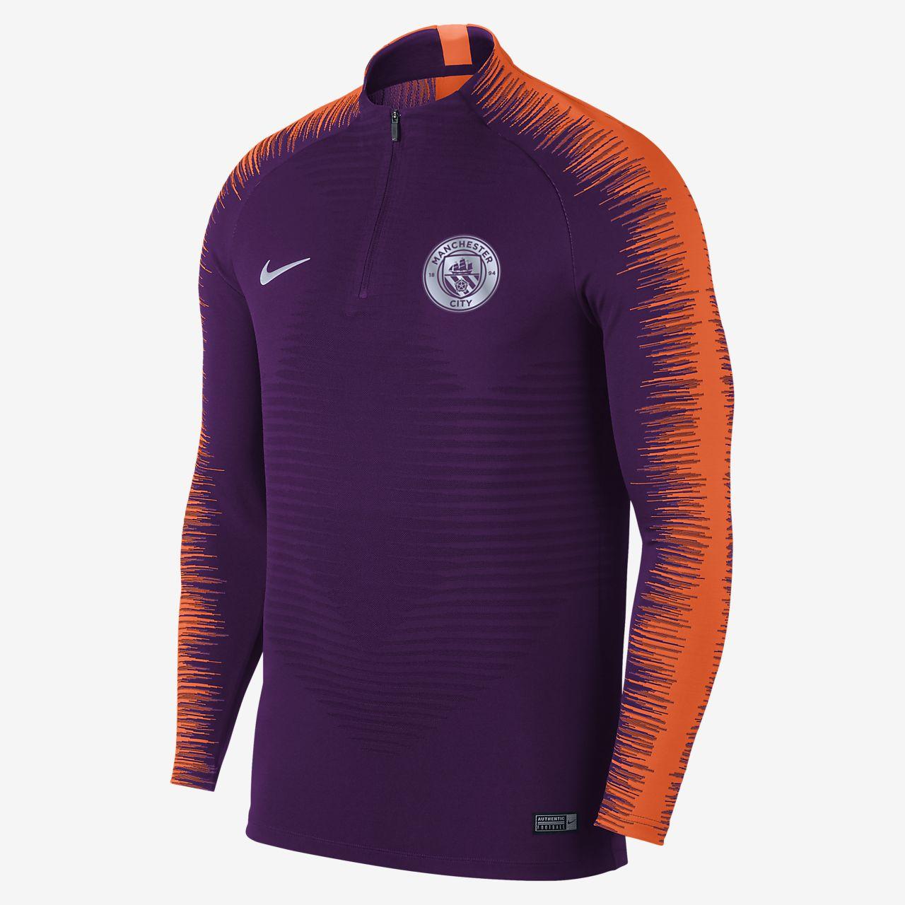 Top de fútbol de manga larga para hombre Manchester City FC VaporKnit  Strike Drill 58aa4b3a56682