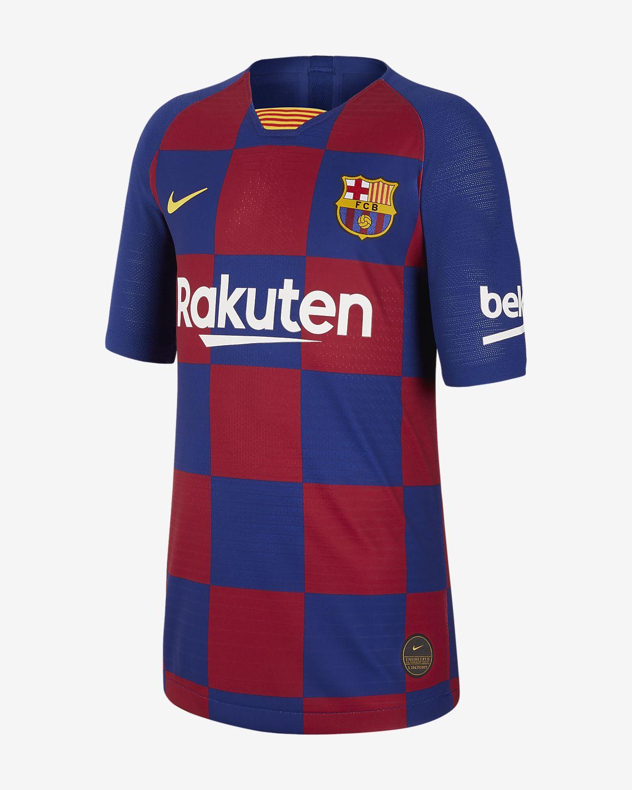 FC Barcelona 2019/20 Vapor Match Home fotballdrakt til store barn