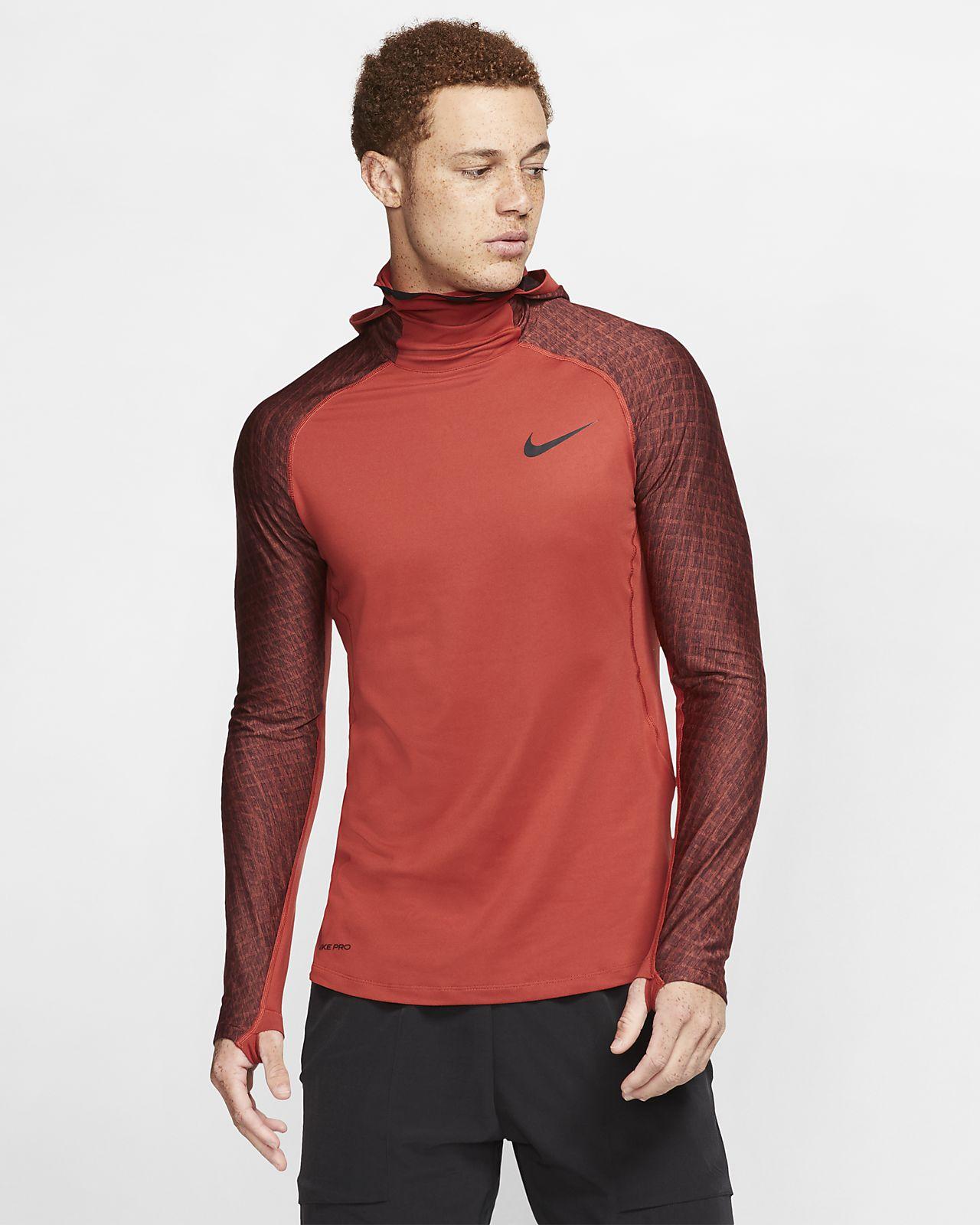 Langærmet Nike Therma træningshættetrøje til mænd