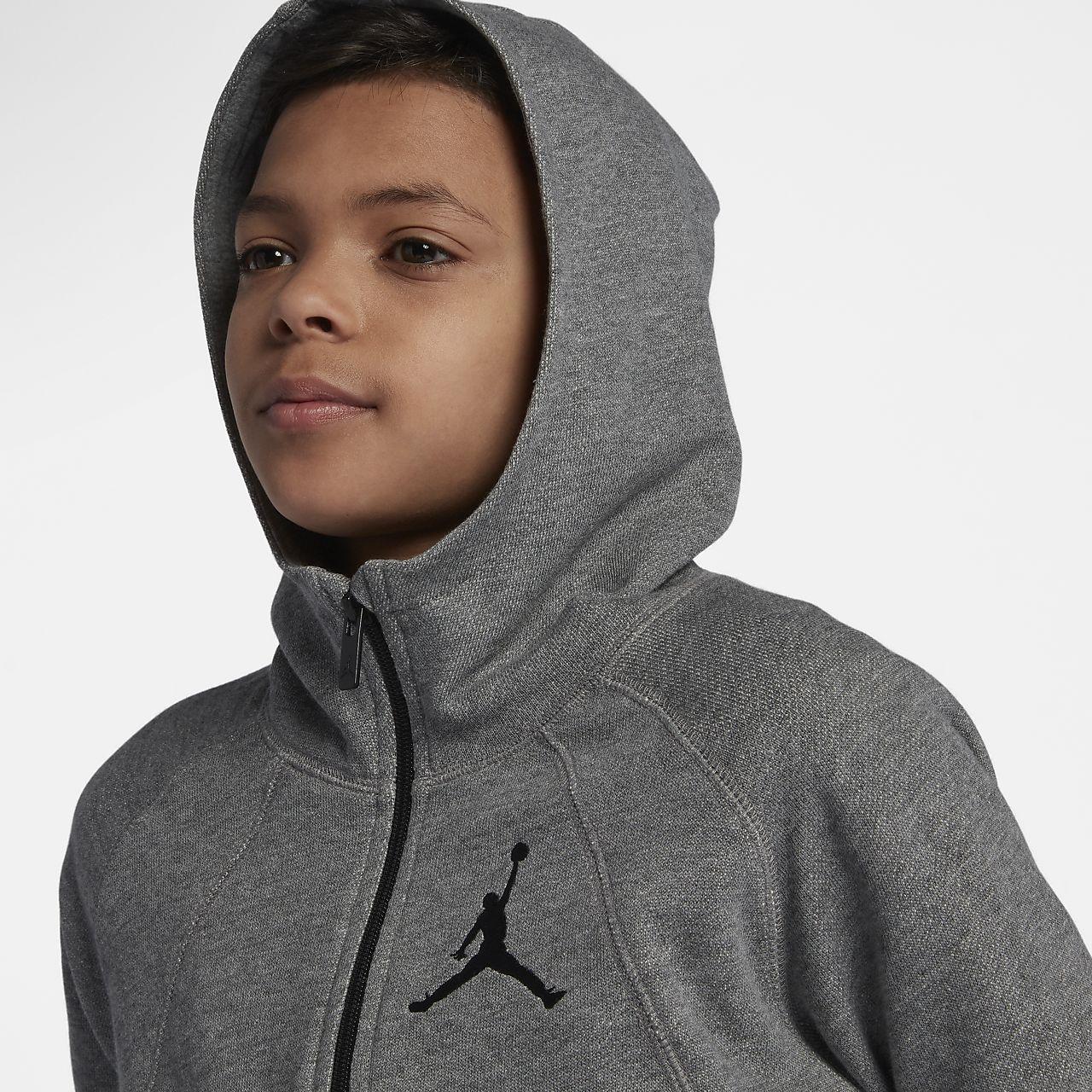 21a460c69de ... Mikina s kapucí a dlouhým zipem Jordan Sportswear Wings Lite pro větší  děti (chlapce)