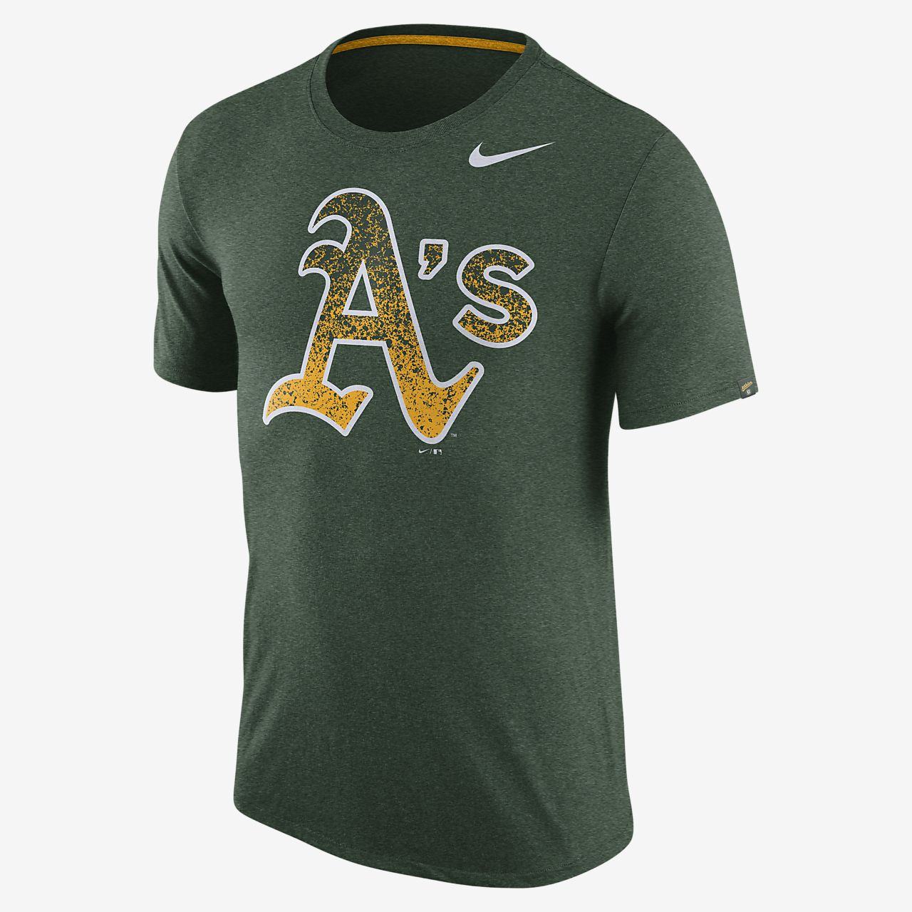 Nike Marled (MLB A's) Men's T-Shirts Black