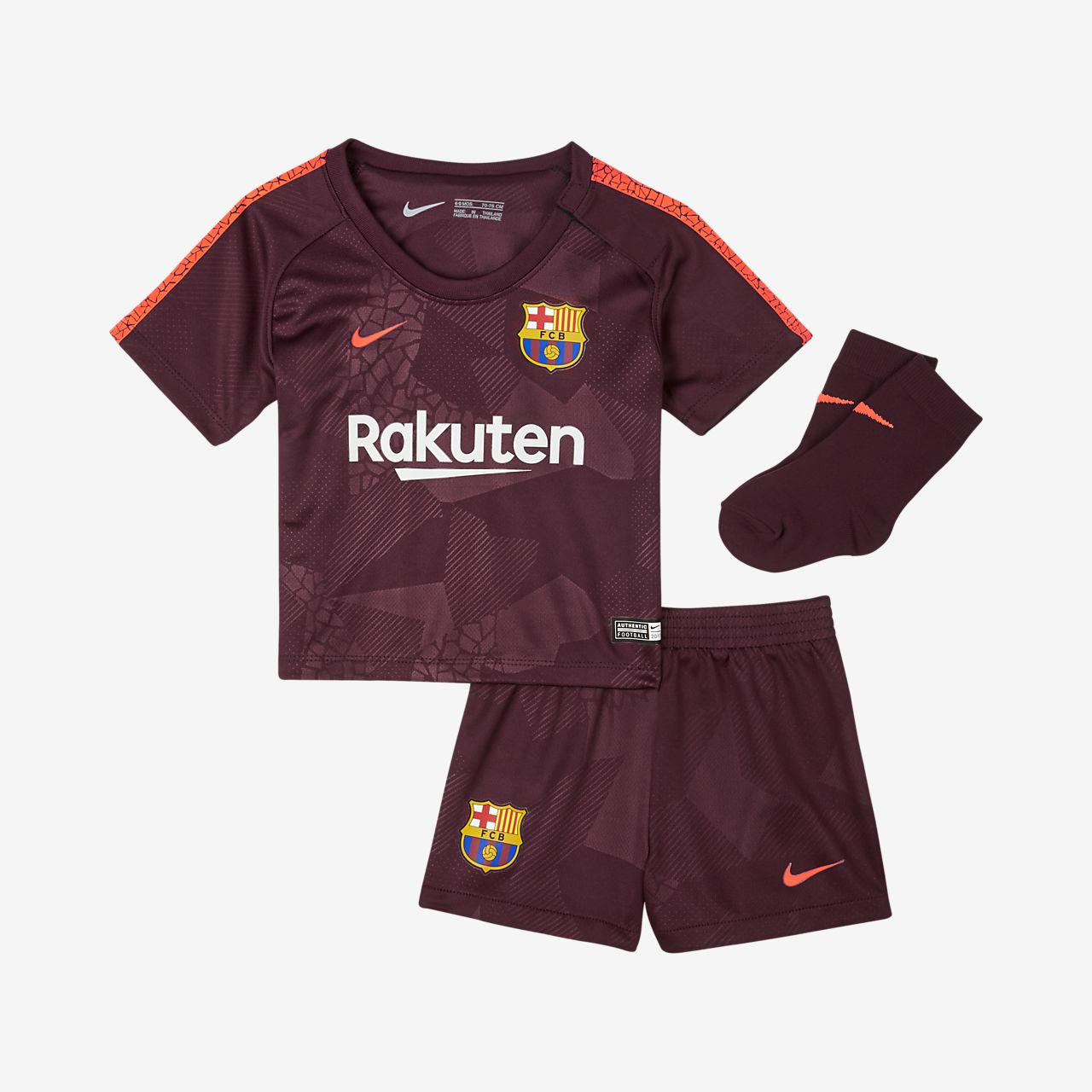 b5f53489e40 2017 18 FC Barcelona Stadium Third Baby   Toddler Football Kit. Nike ...