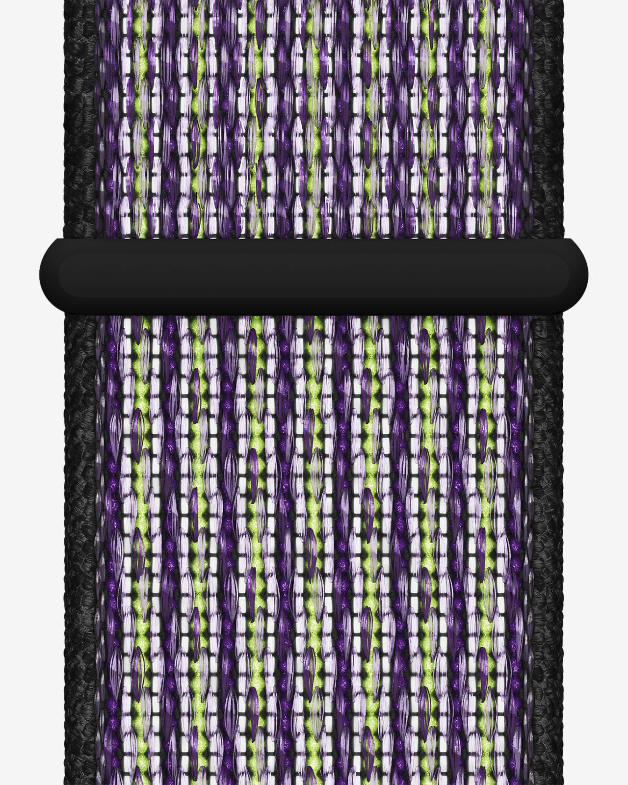 Opaska sportowa 40 mm Apple Watch Nike Desert Sand / czerń / jaskrawy zielonożółty