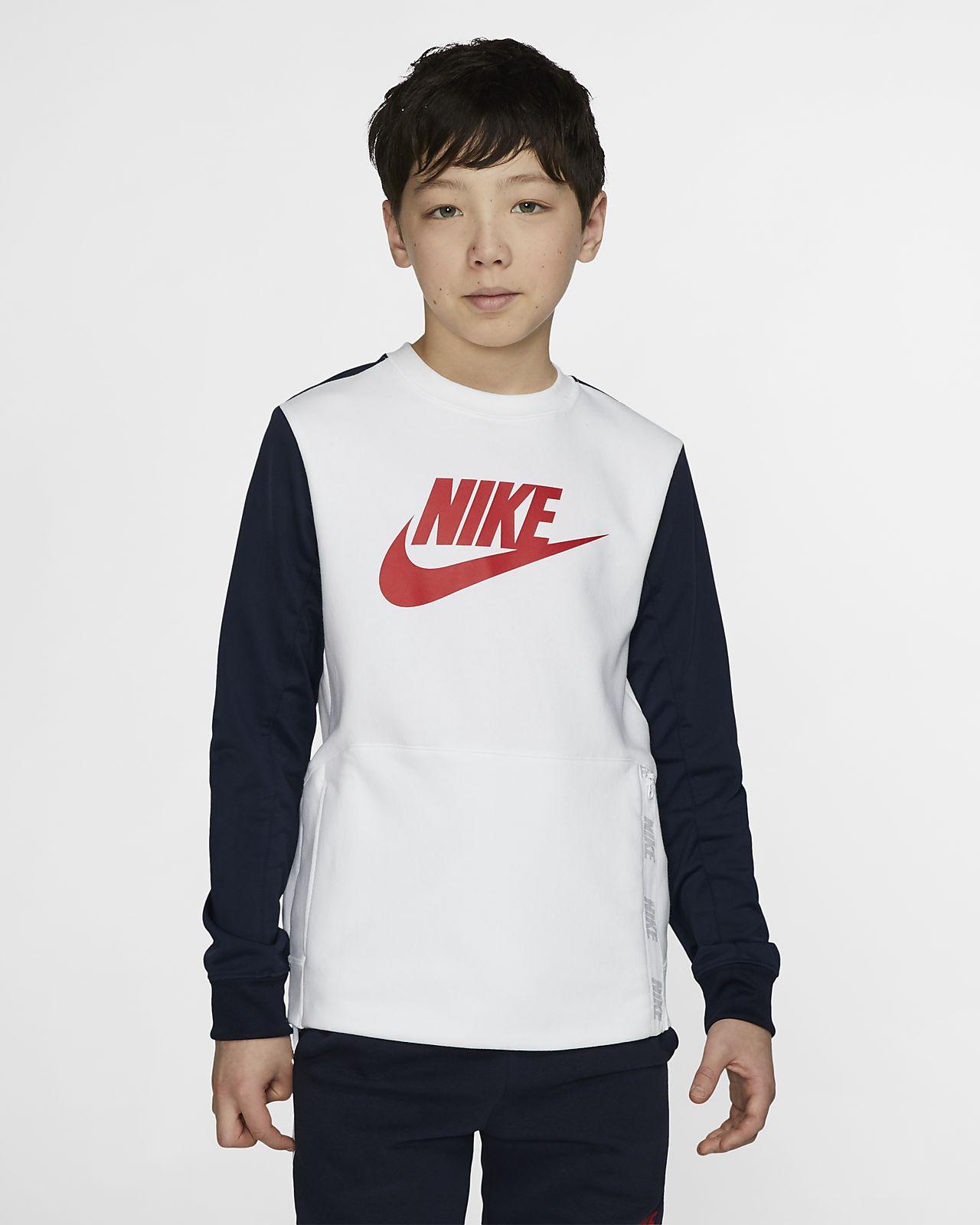 Mikina s kulatým výstřihem Nike Sportswear pro větší děti