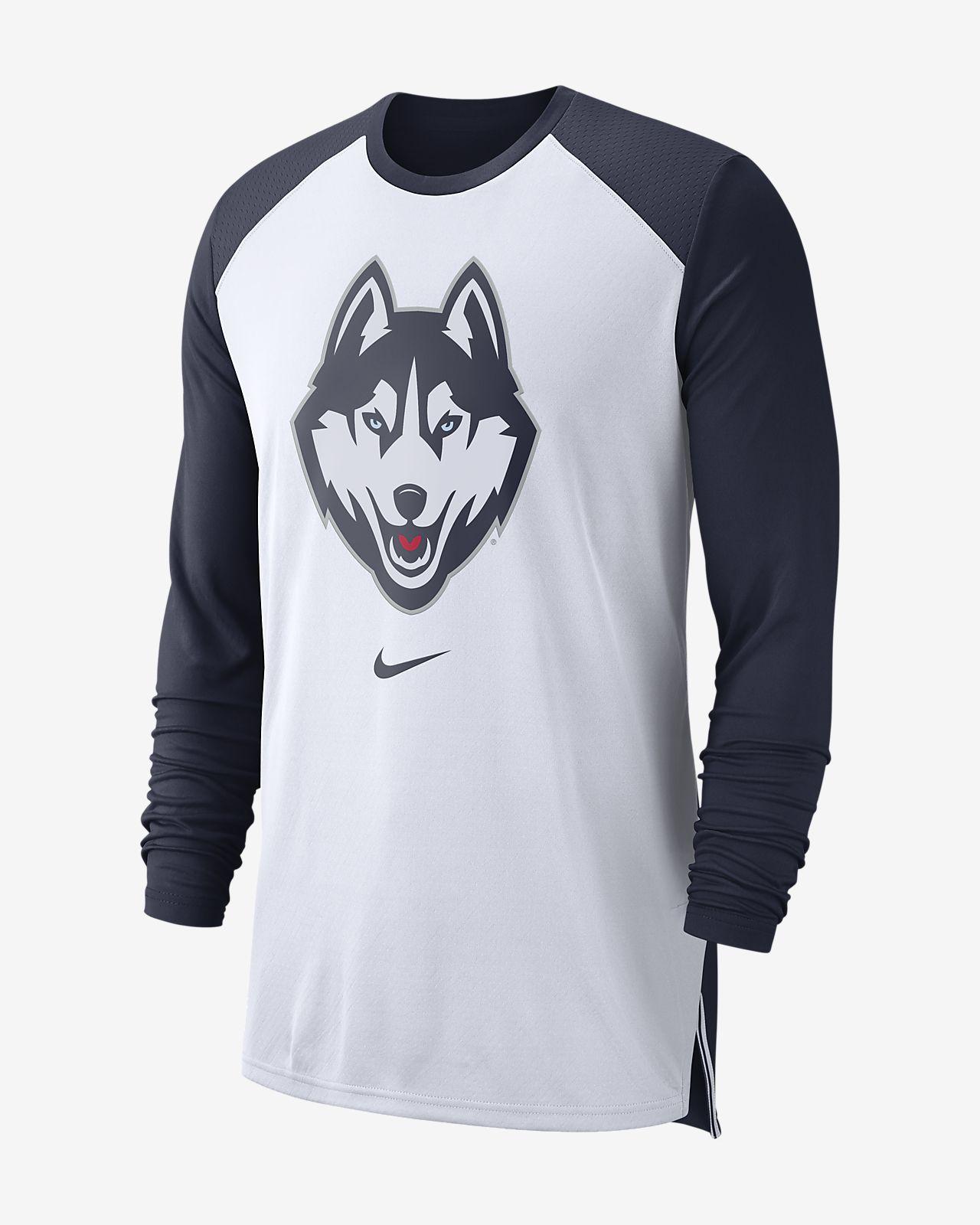 Nike College Breathe (UConn) Men's Long-Sleeve Top