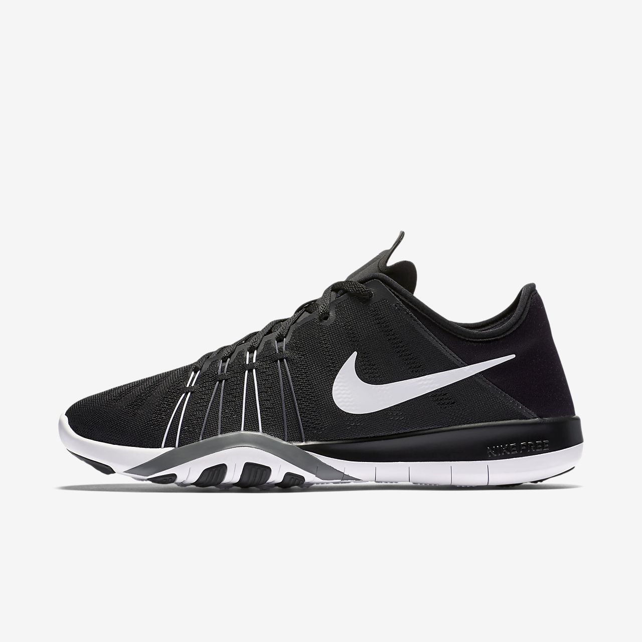 nike free run 6.0 black and white market