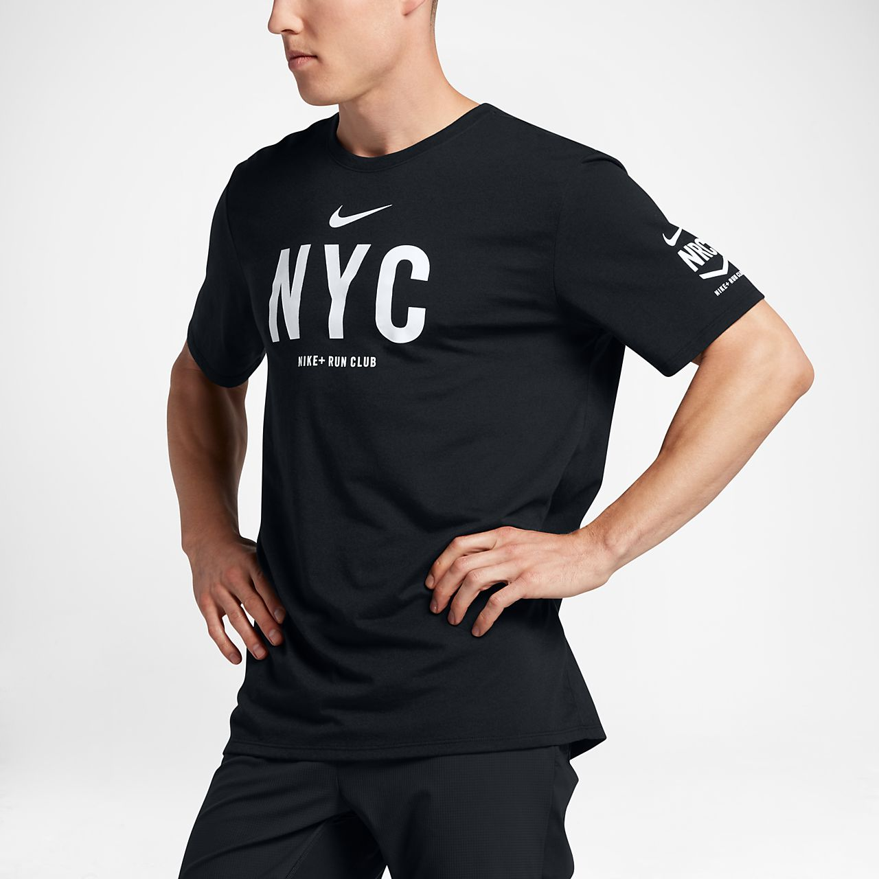 Nike dri fit run club new york men 39 s t shirt for Tahari t shirt mens
