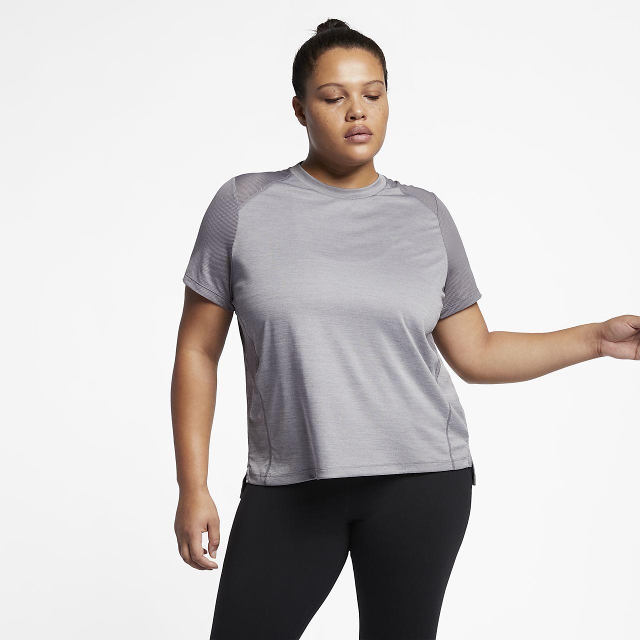 Nike Miler (Plus Size) Women Short-Sleeve Running Top