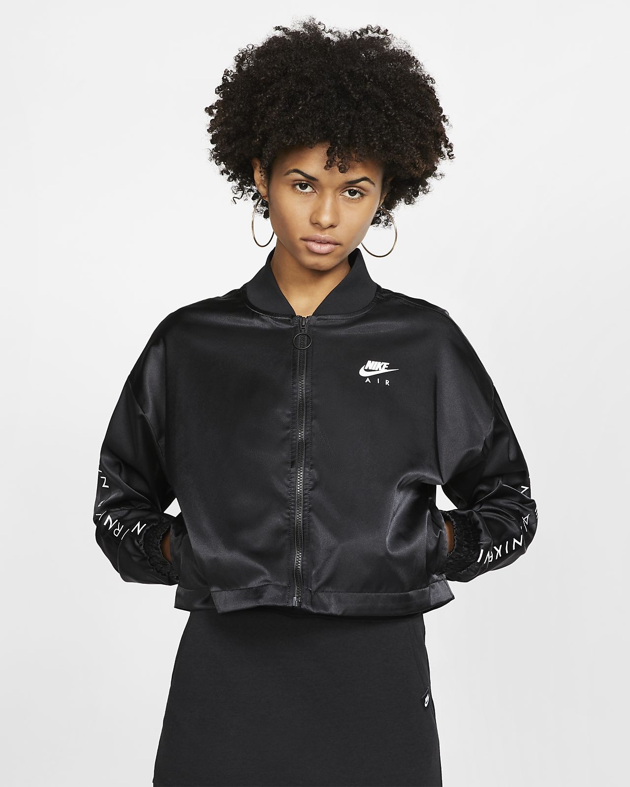 Nike Air Satin-Trainingsjacke für Damen