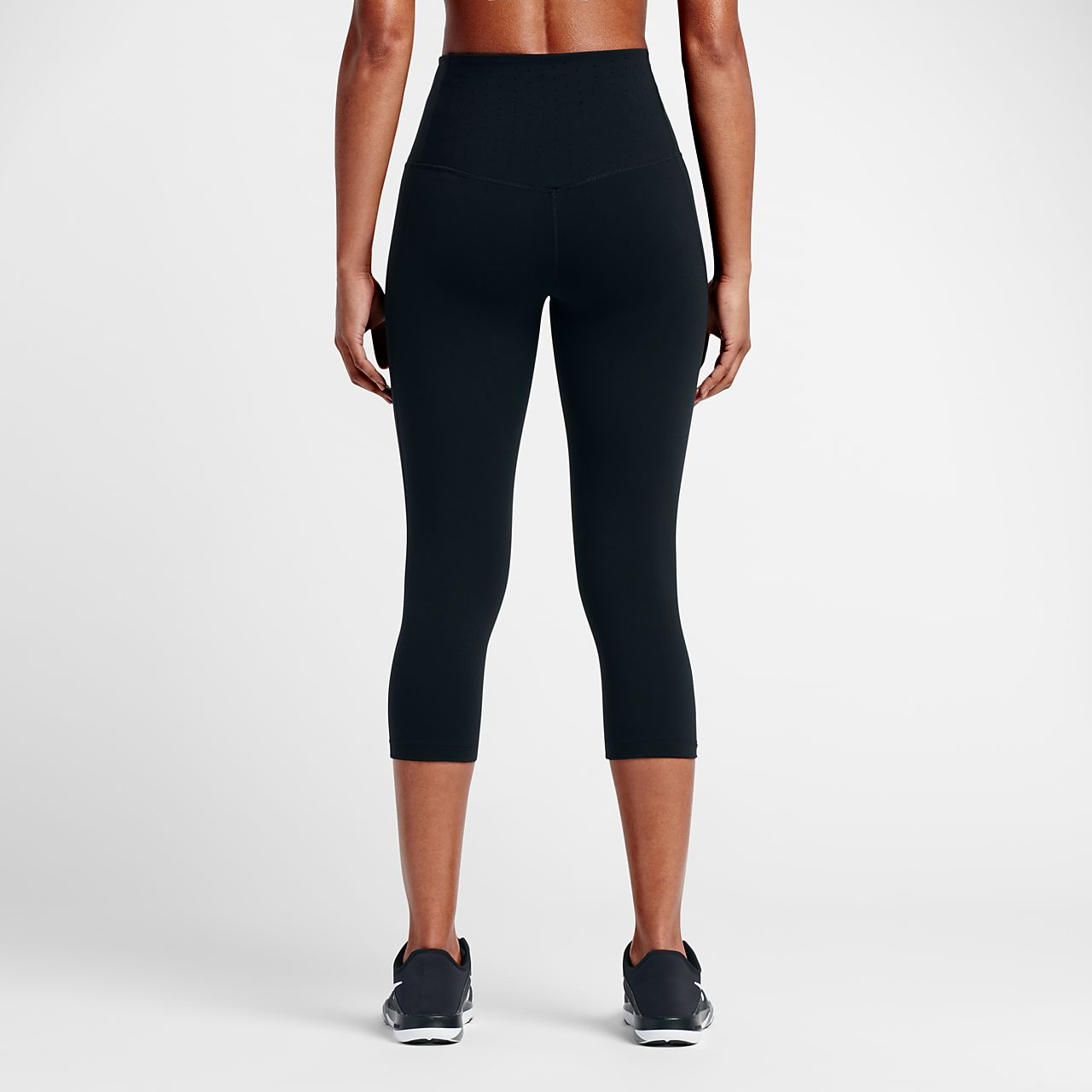 Nike Womens Training Capris - Nike Legendary Tight Charcoal Heather/Black/Black H59y7097