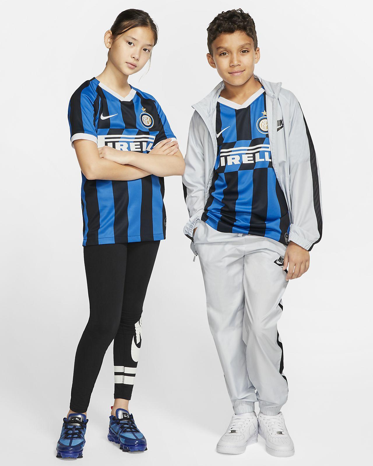 Inter Mailand 2019/20 Stadium Home Fußballtrikot für ältere Kinder