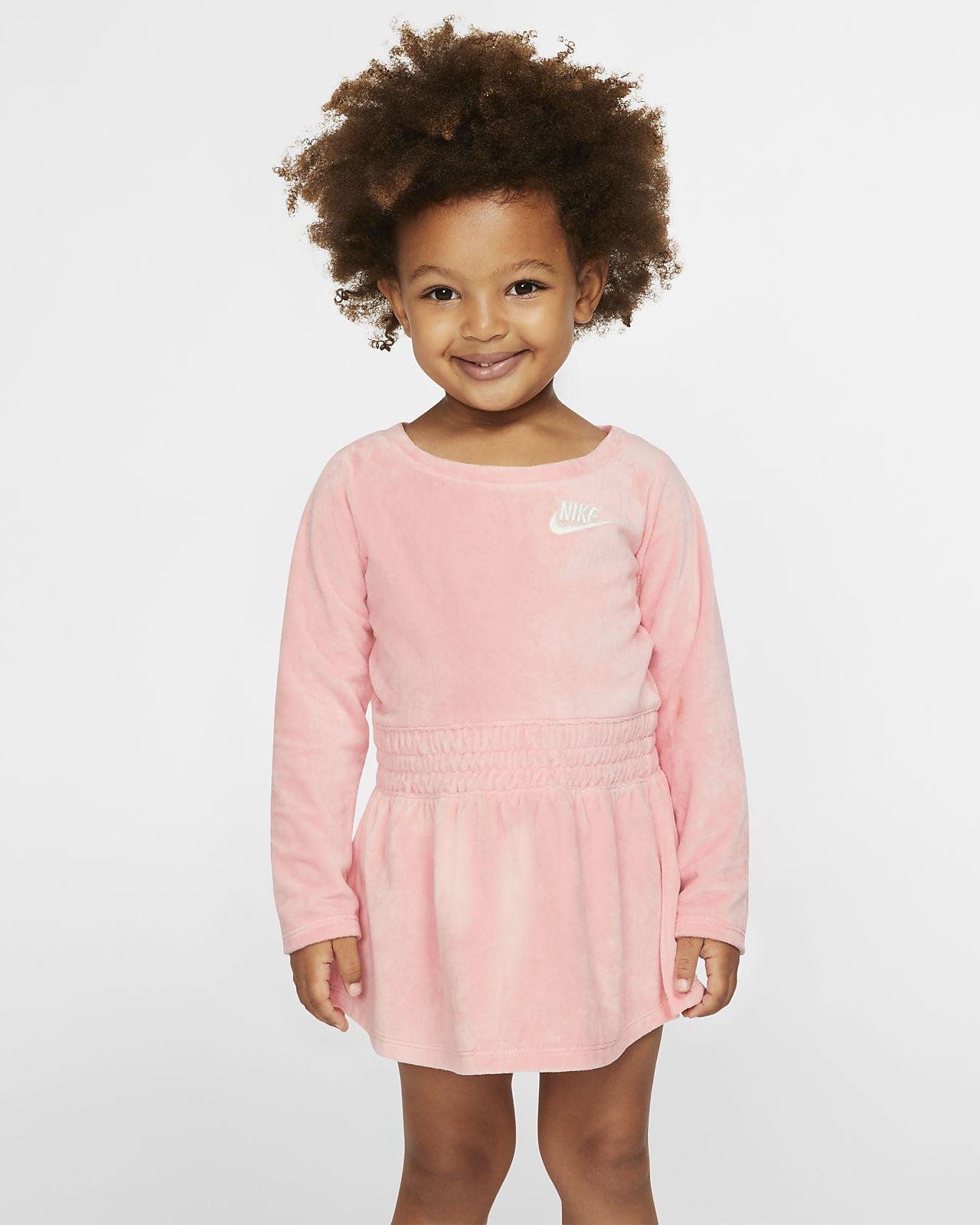 Nike Sportswear Toddler Long-Sleeve Velour Dress