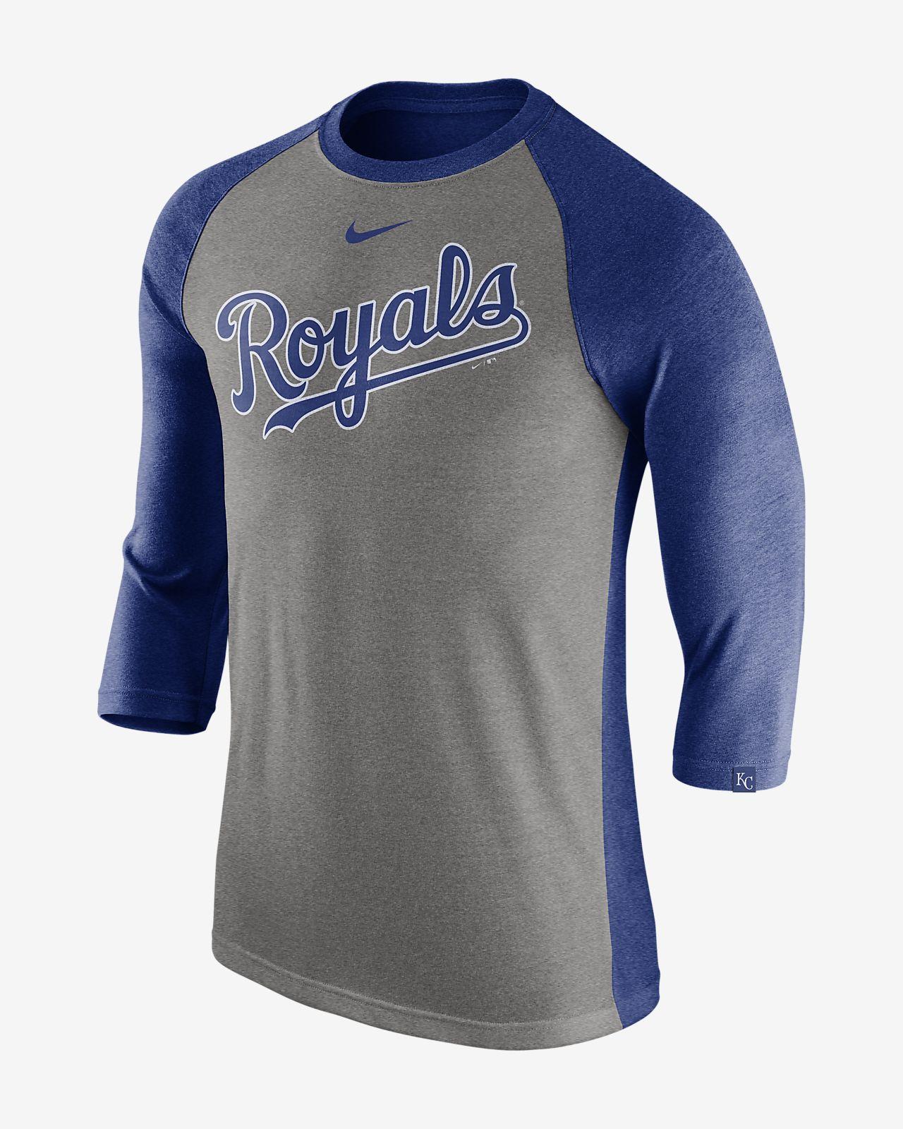Nike Tri Raglan (MLB Royals) Men's 3/4 Sleeve Top