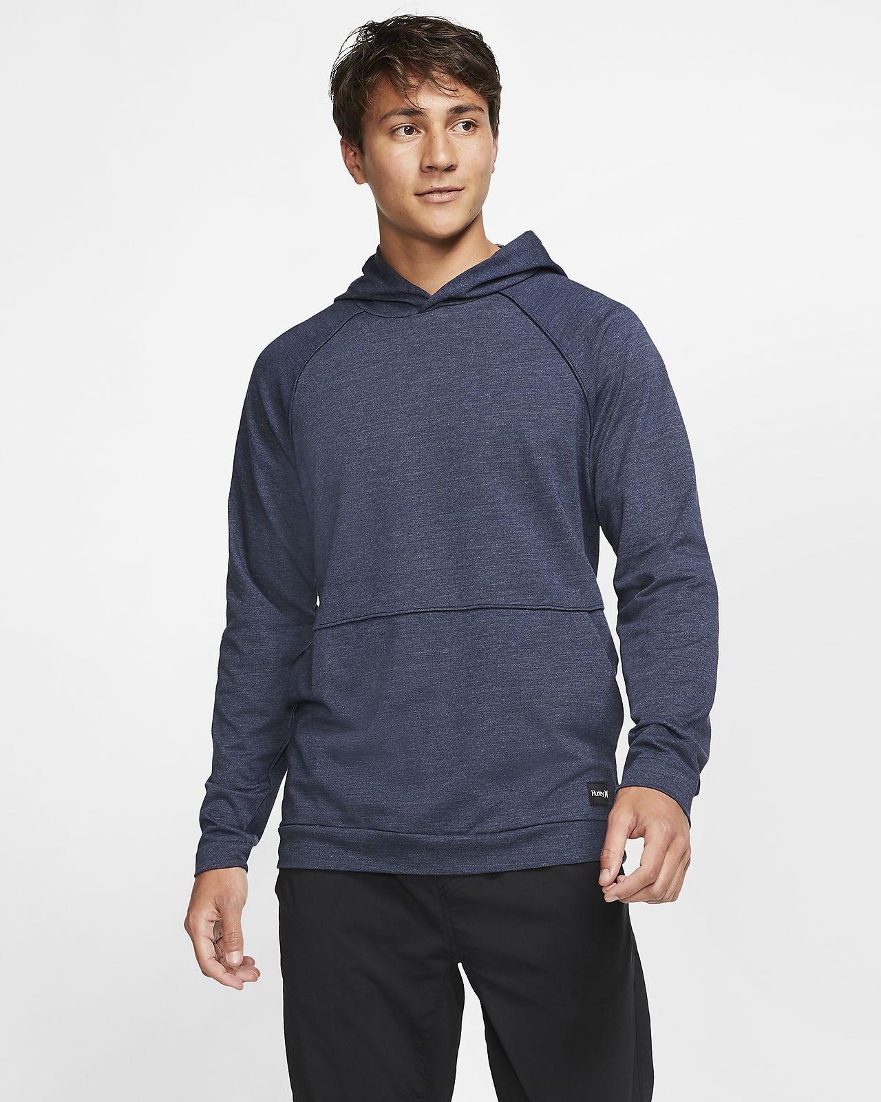 Langærmet Hurley Dri-FIT Mongoose-pullover-hættetrøje til mænd