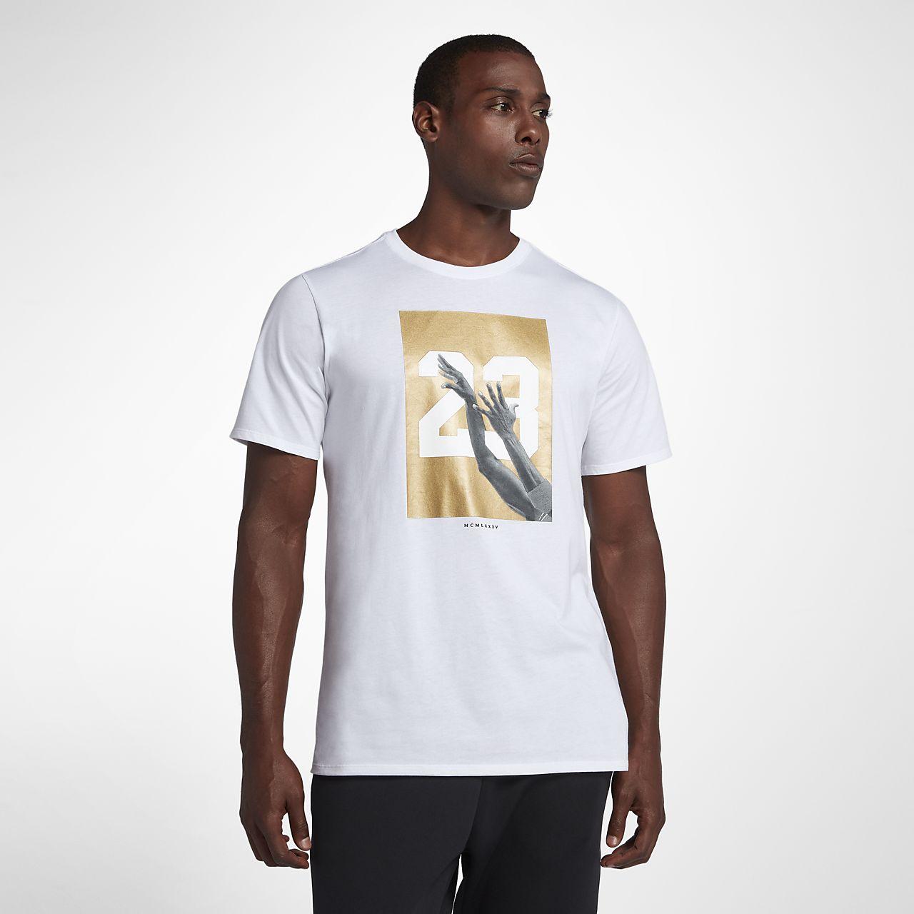 huge discount 011b5 0b36c ... Tee-shirt de basketball Jordan HO 4 pour Homme. Blanc