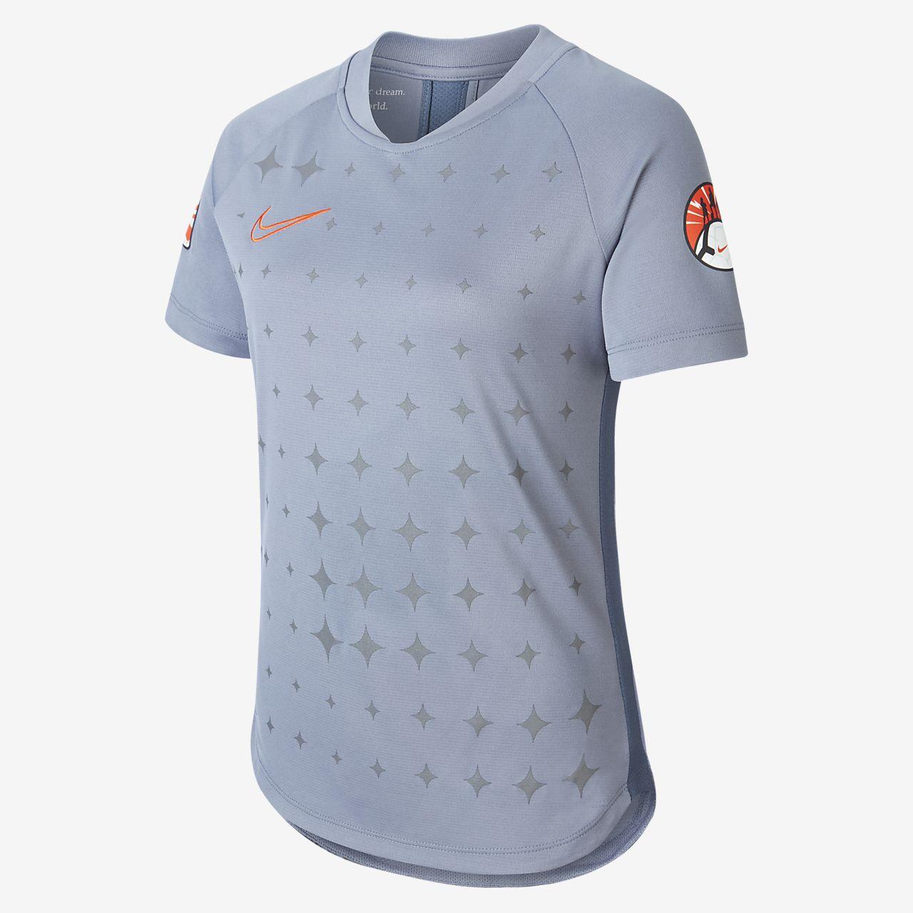 Maillot de football à manches courtes Nike Dri-FIT pour Fille plus âgée