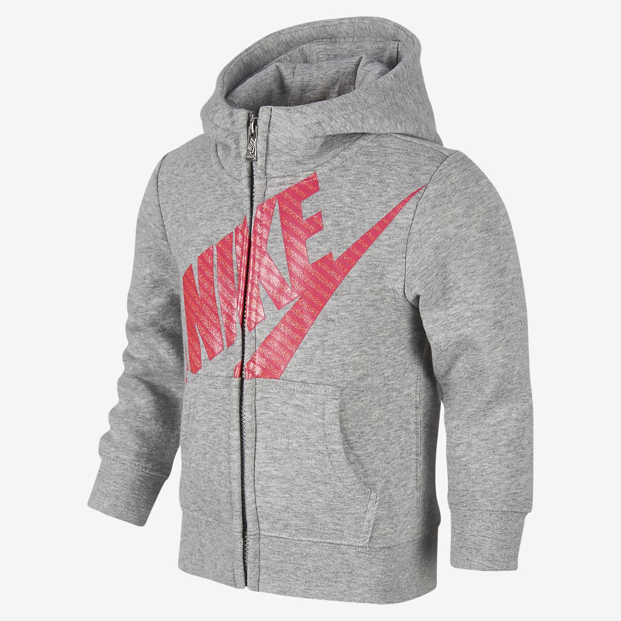 334d97afff Felpa con cappuccio e zip a tutta lunghezza Nike Sportswear - Bambini