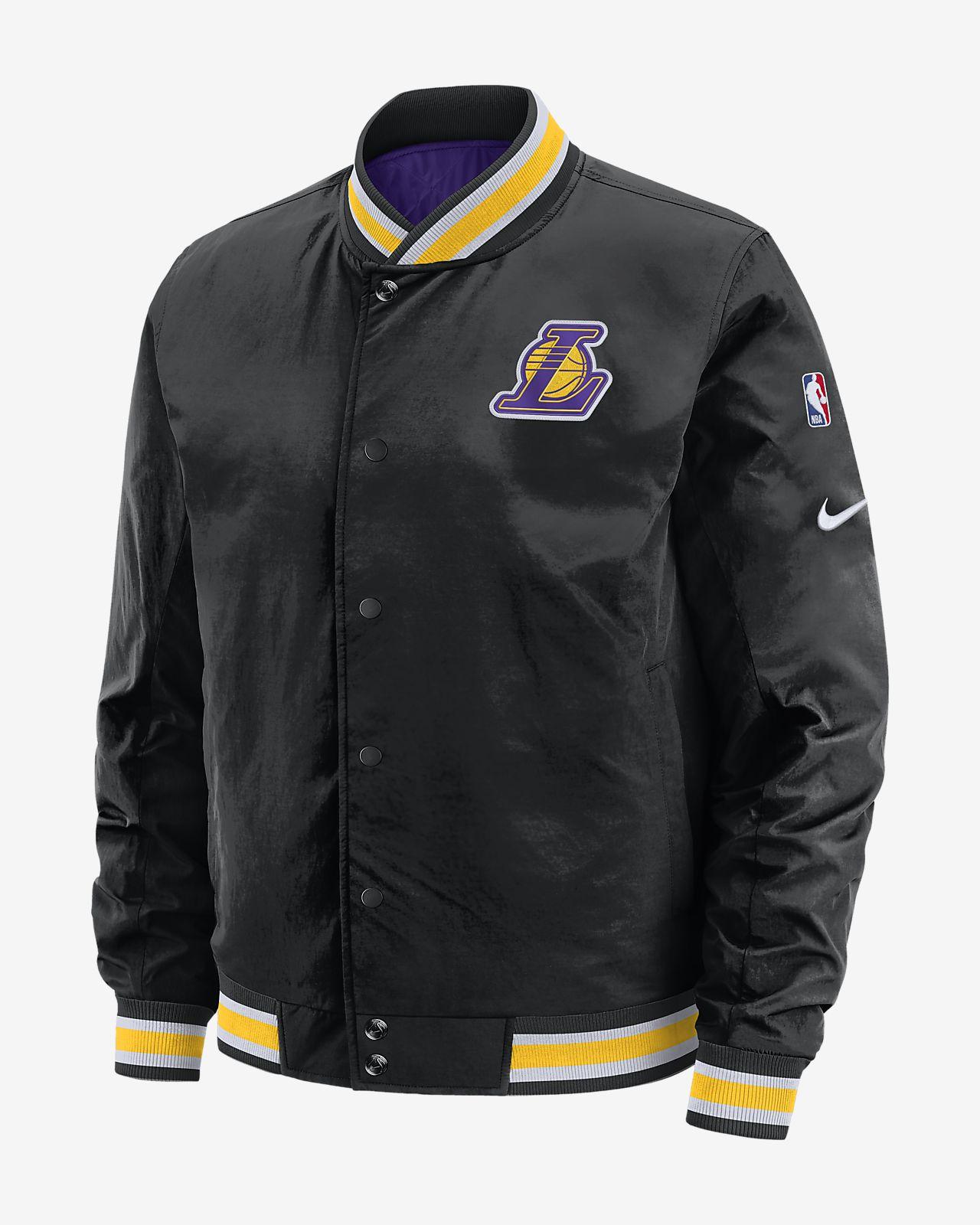 Los Angeles Lakers Courtside Men's Nike NBA Reversible Jacket