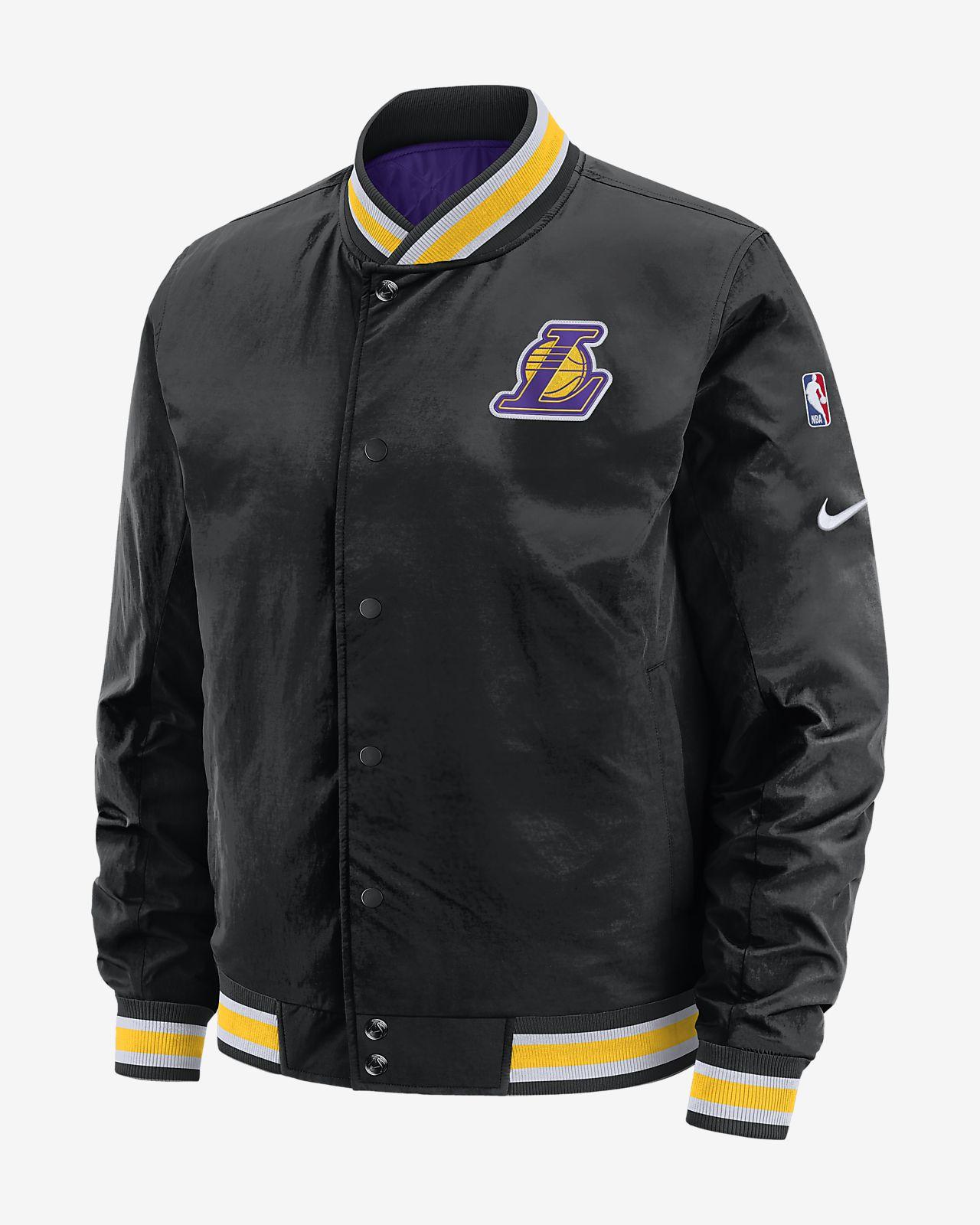 Los Angeles Lakers Courtside Nike NBA-s kifordítható férfikabát