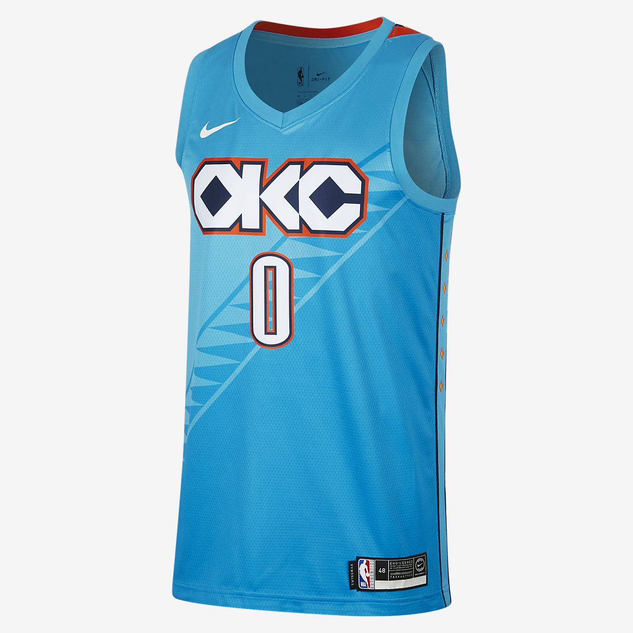 俄克拉荷马城雷霆队 (Russell Westbrook) City Edition Swingman Nike NBA Connected Jersey 男子球衣