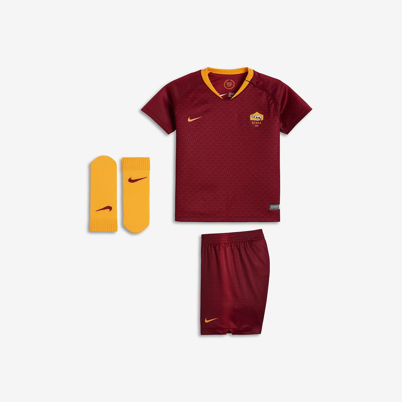 Equipamento de futebol 2018 19 A.S. Roma Stadium Home para bebé ... bce59763555d3
