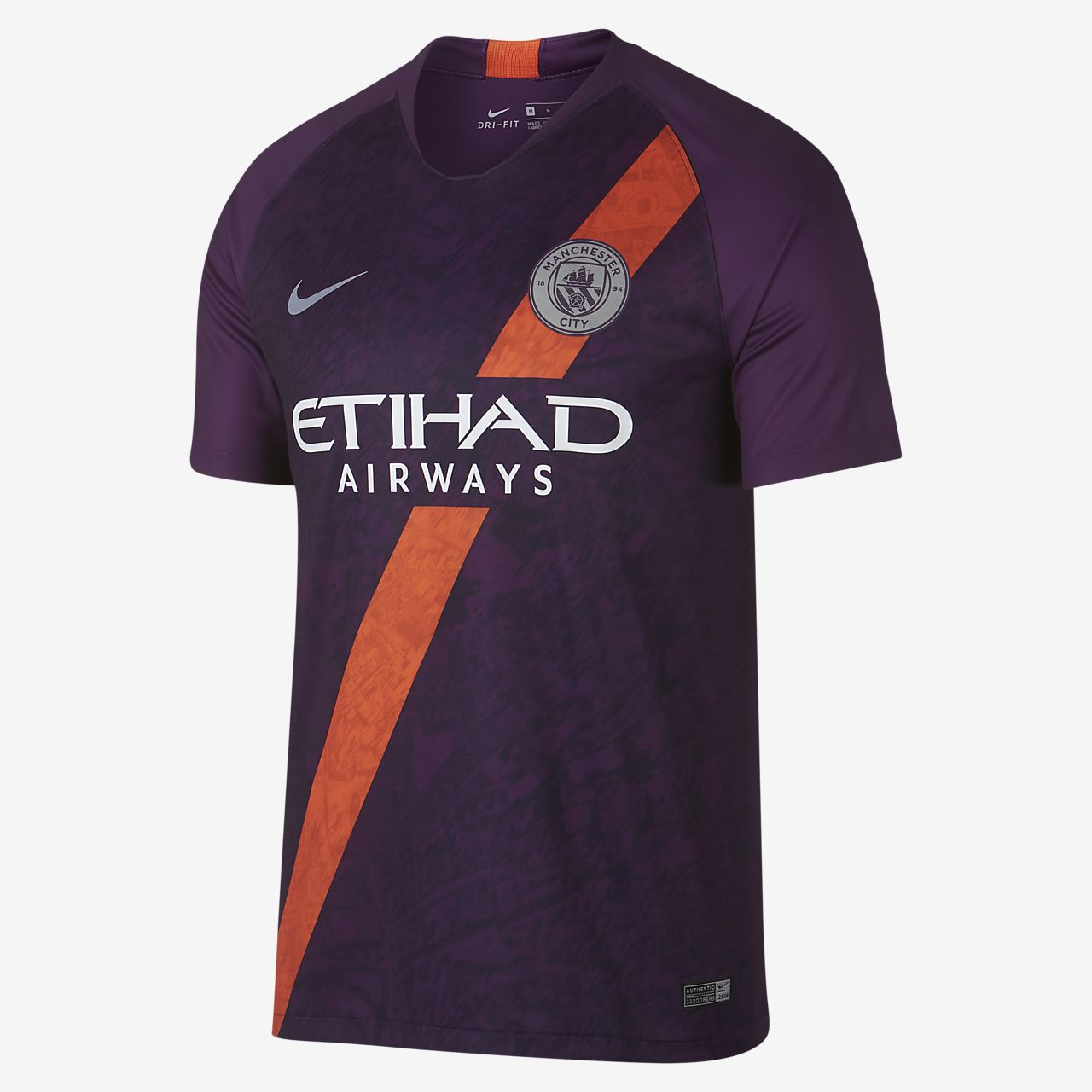 Camiseta de fútbol para hombre alternativa Stadium del Manchester City FC 2018/19
