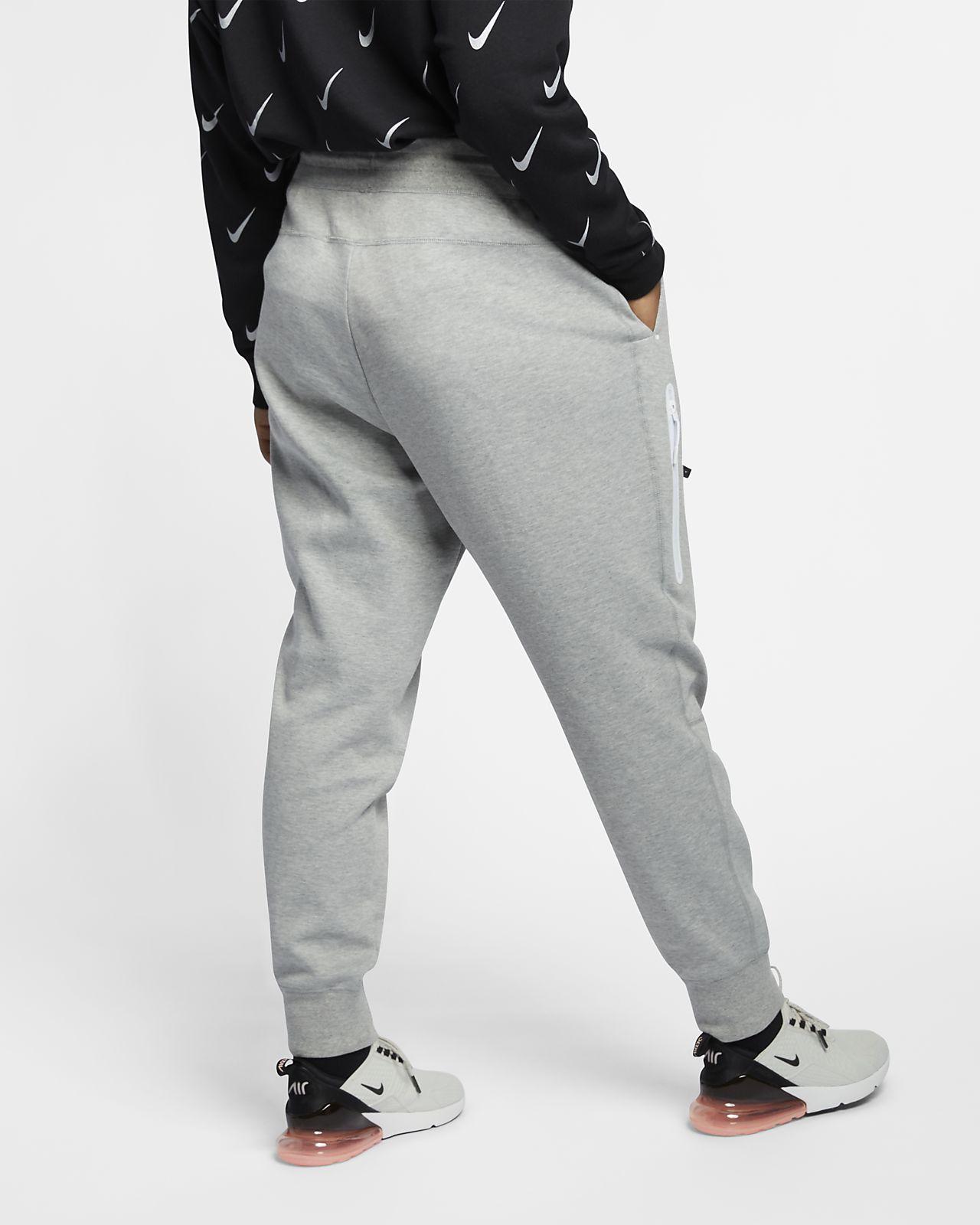 2X NIKE Sportswear Womens Plus Fleece Club Pants Black//Black//White