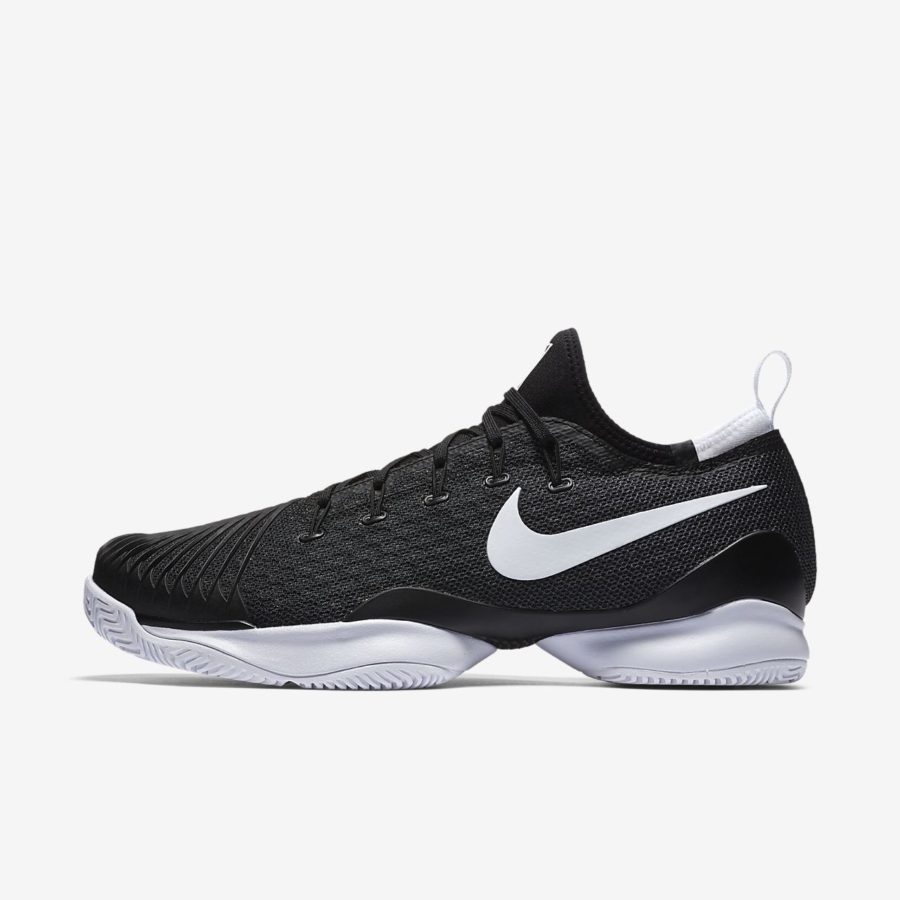 Nike Performance AIR ZOOM RESISTANCE - Multicourt shoes - white/black EaGmcFlElc