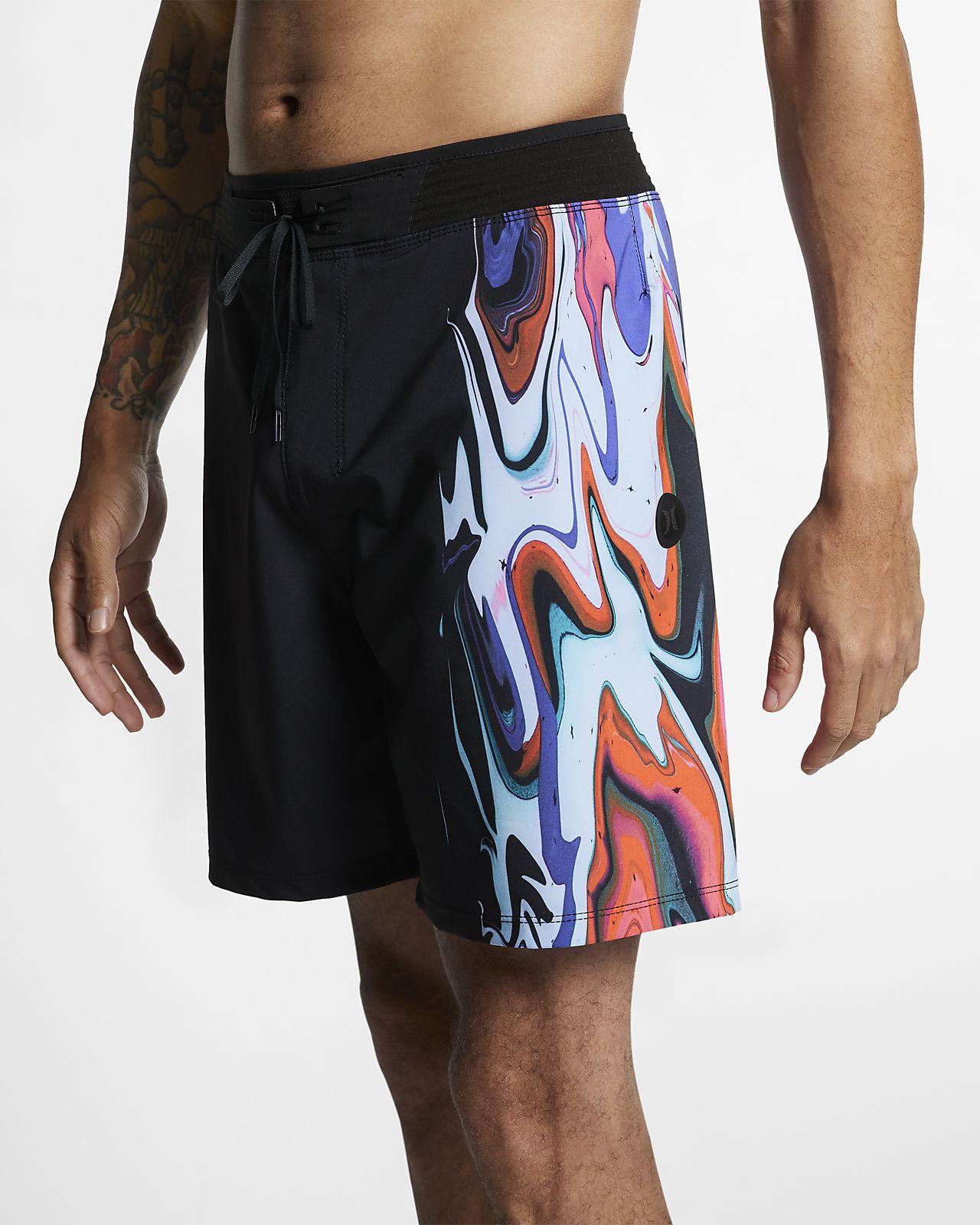Shorts de playa de 46 cm para hombre Hurley Phantom Hyperweave Voodoo
