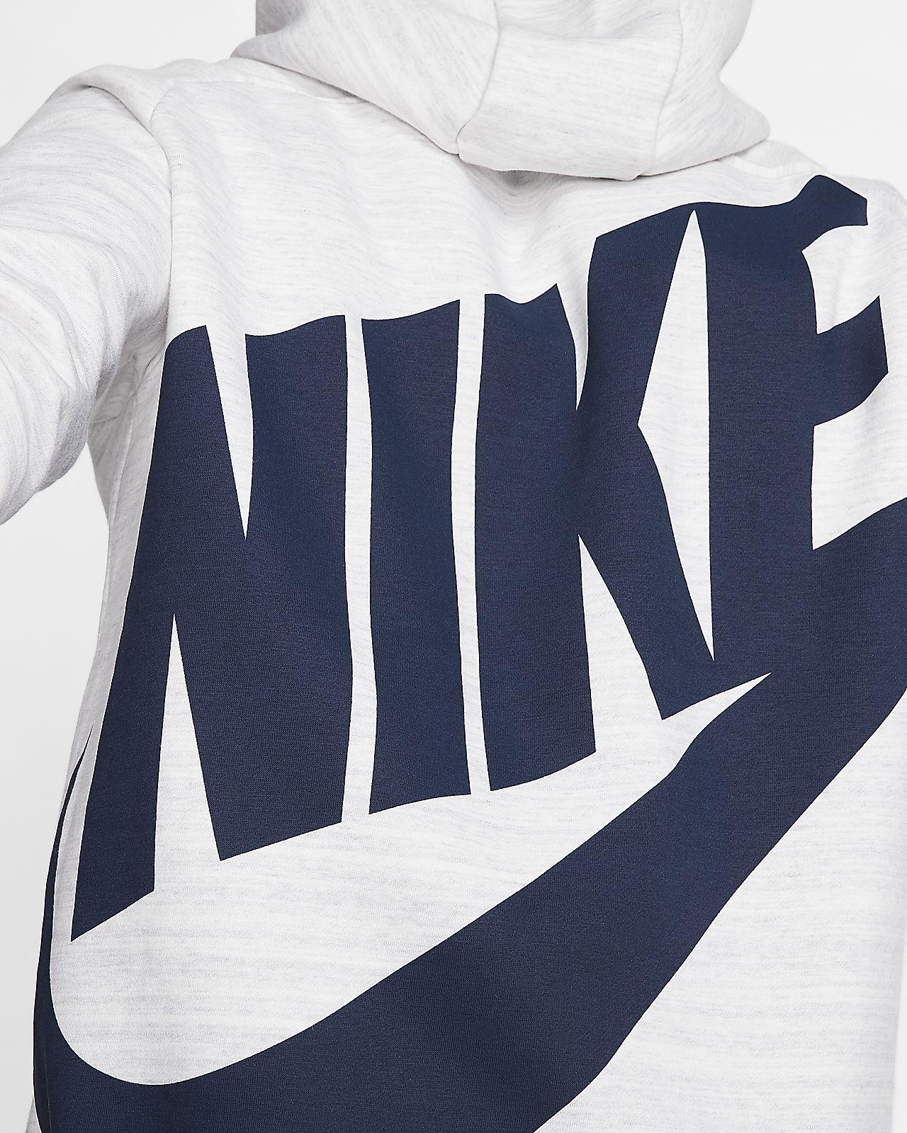 Felpa Con Cappuccio Di Nike Cerniera Bluza Maglione air