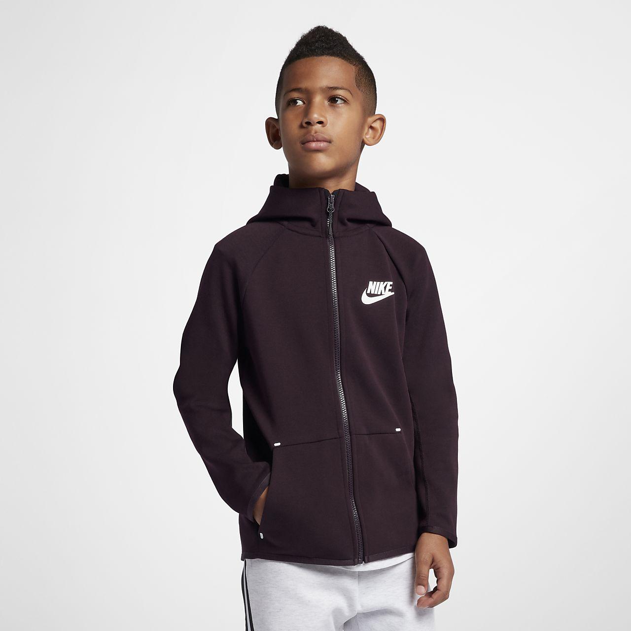 À Pour Sportswear Zippé Nike Capuche Fleece Entièrement Sweat Tech BR7dT